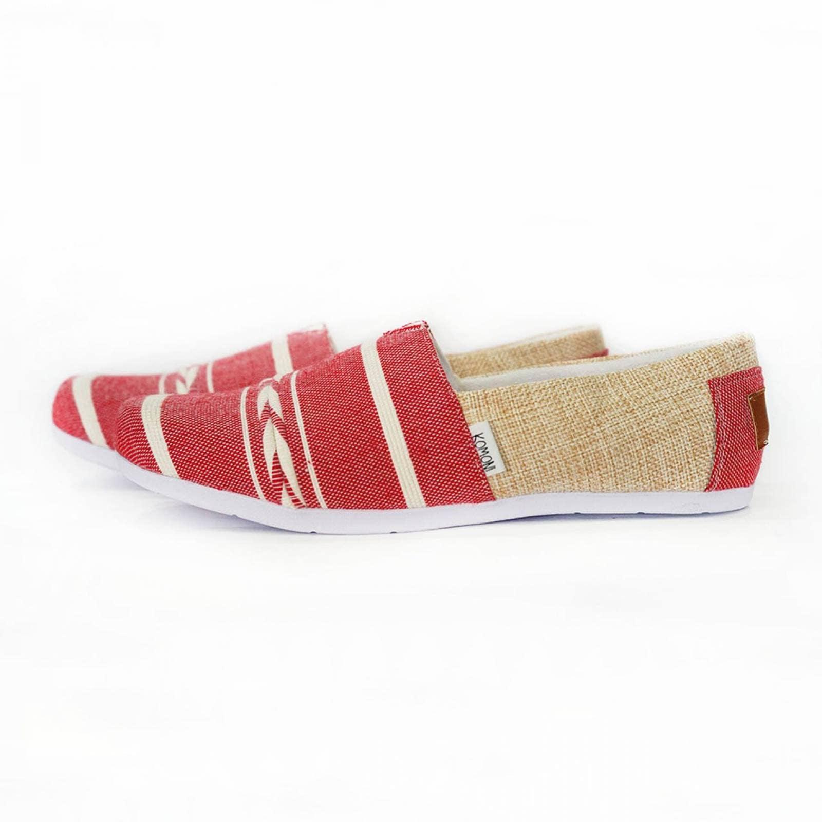 Fit Lop Zapato Artesanal Tela Hombre Rojo Jacinta Rojo Komoni Talla: 28