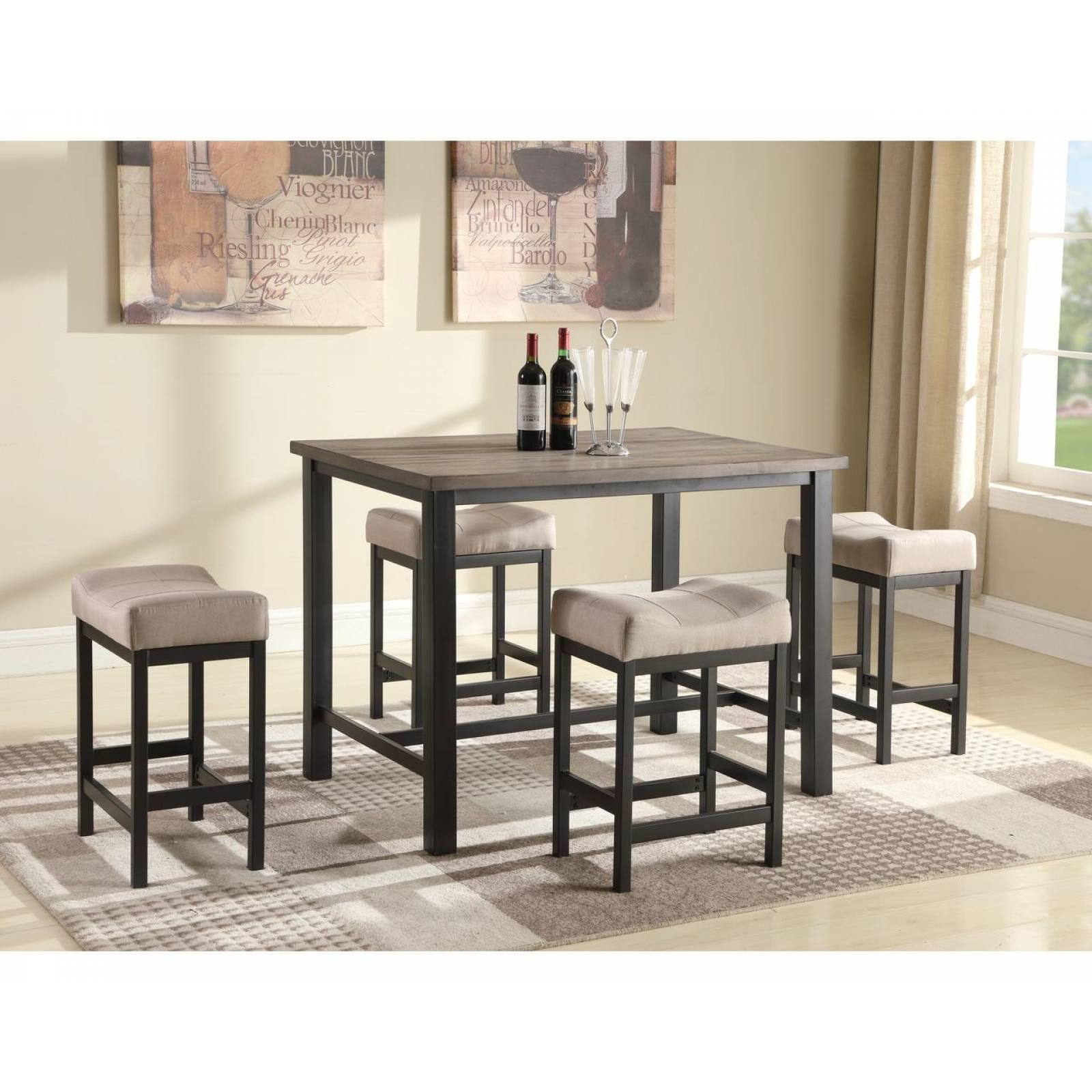 Mesa con 4 sillas para comedor Bran 1861 color café