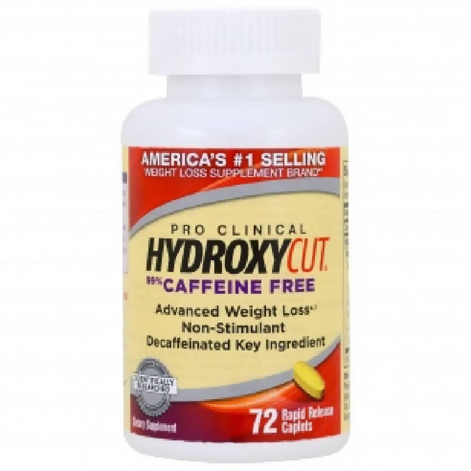 MuscleTech Hydroxycut Pro Clinical Caffeine Free 60 Capsulas.