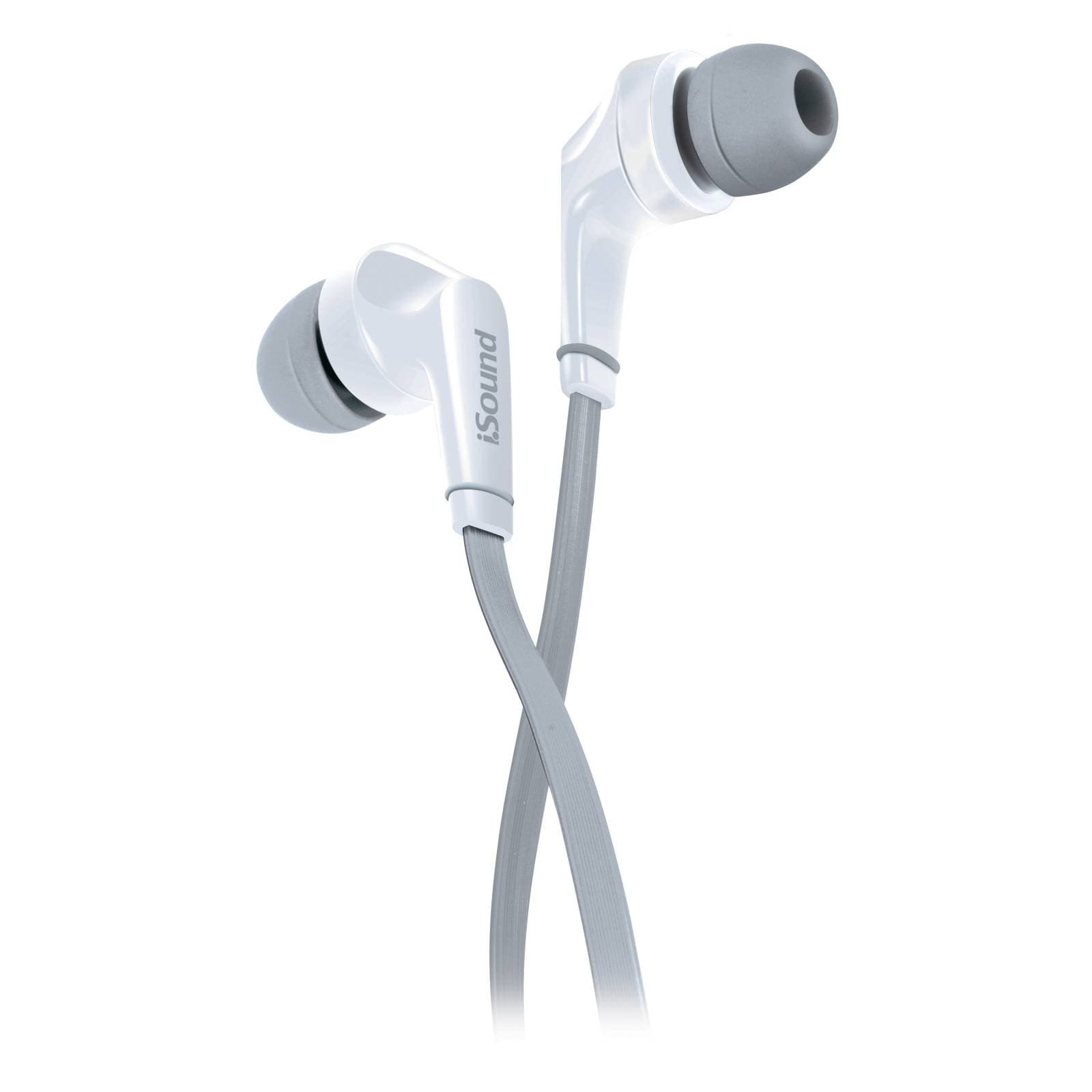 Audífonos In Ear Alámbricos blancos ISOUND