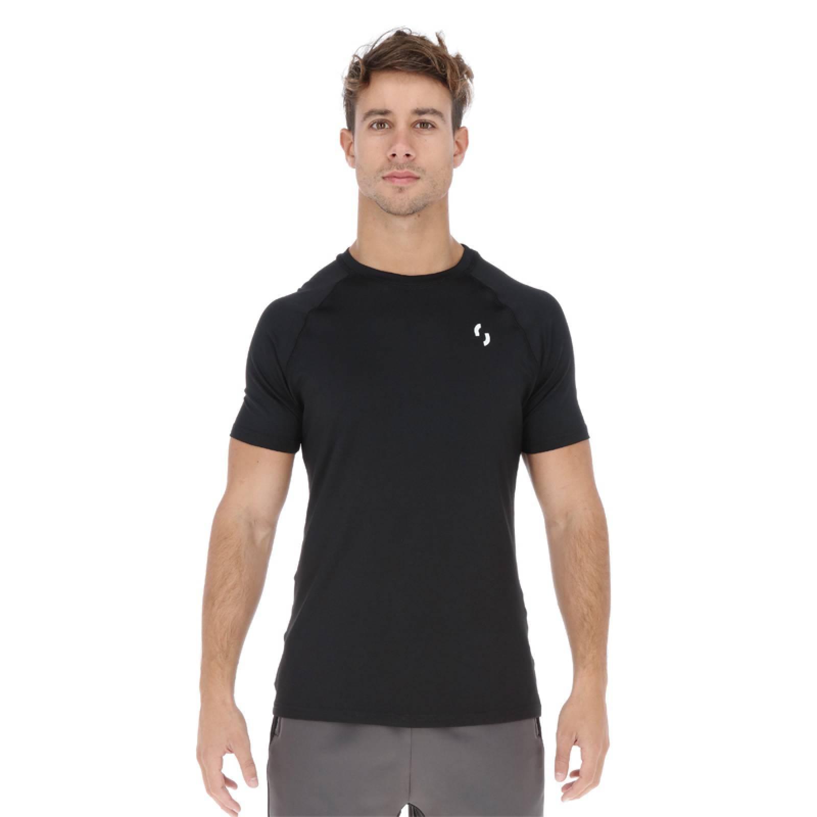Playera Deportiva Miles Sportswear Essential - Negro