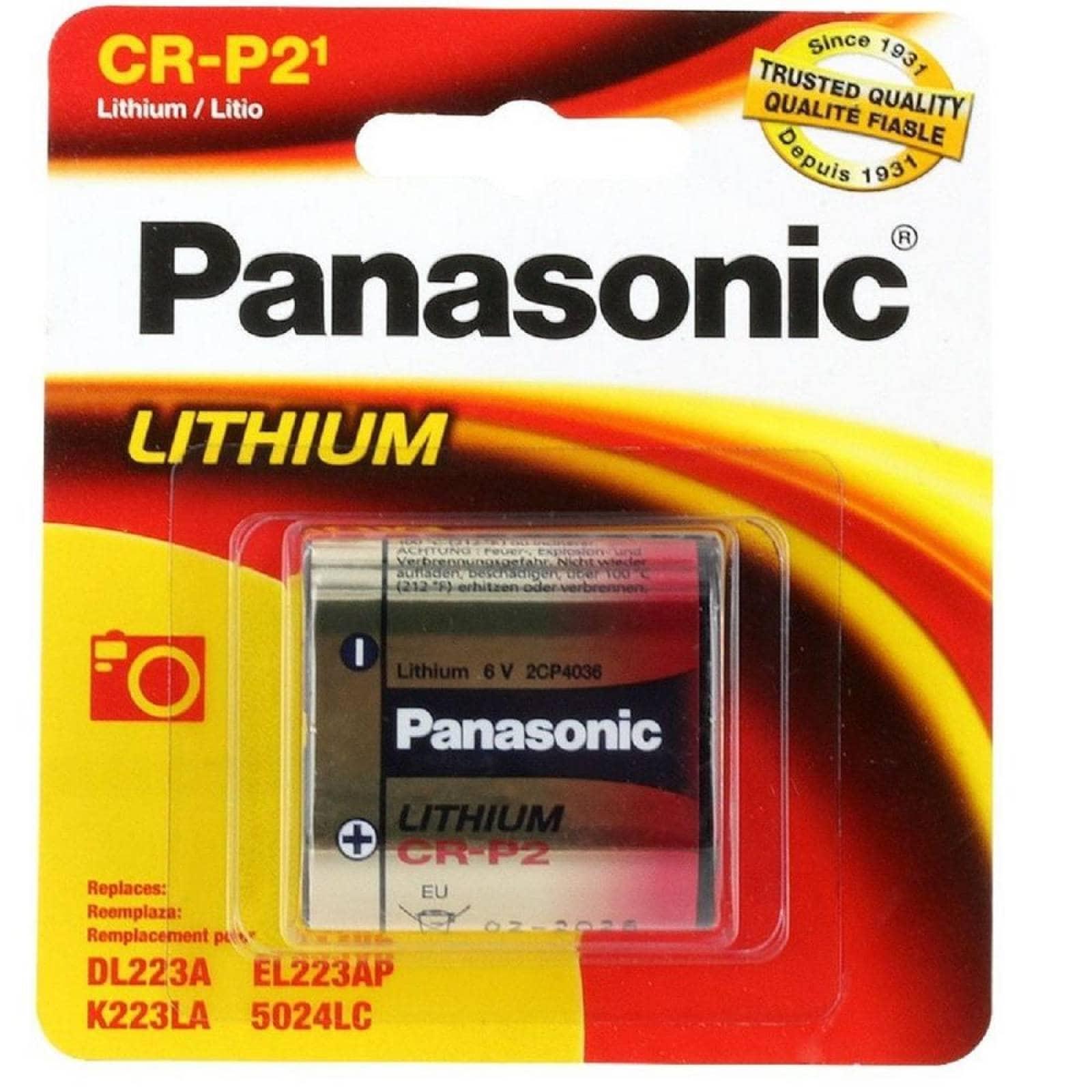 PILA PANASONIC LITIO CRP2 6V CR-P2PA1B