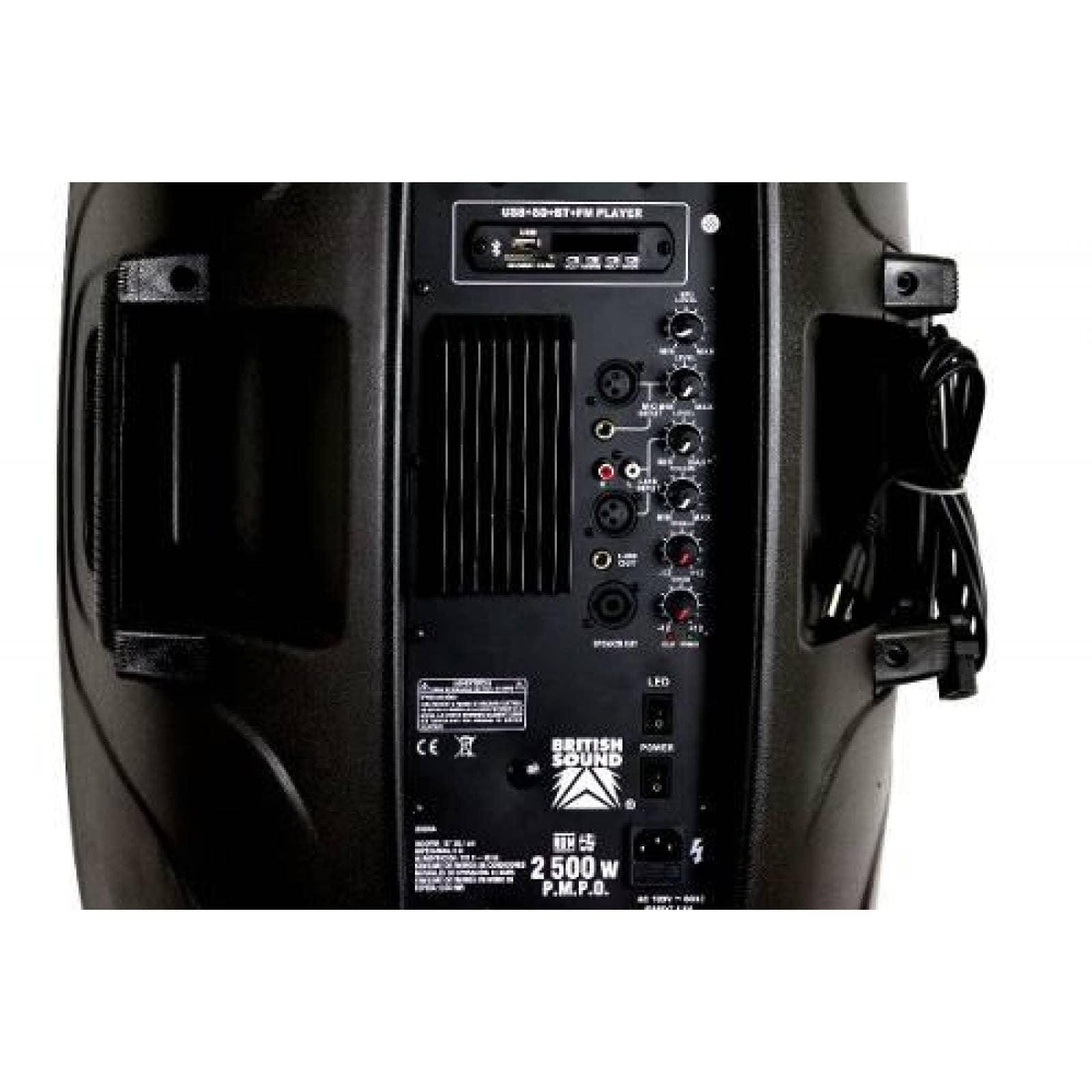 Bocina Fiesta Kit 15'' Bluetooth Con Luces Y Láser(CL)