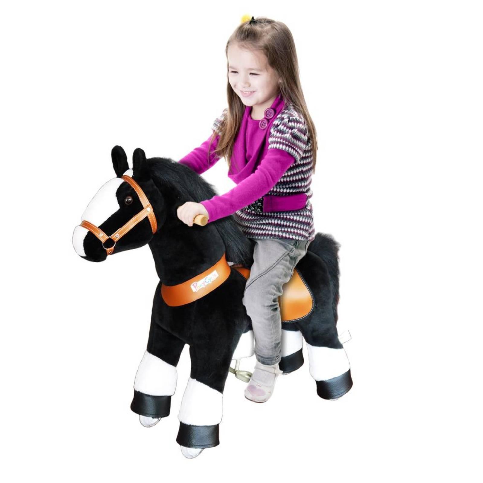 Caballito Montable De Empuje Pony Cycle Con Ruedas Juego Para Niños Negro