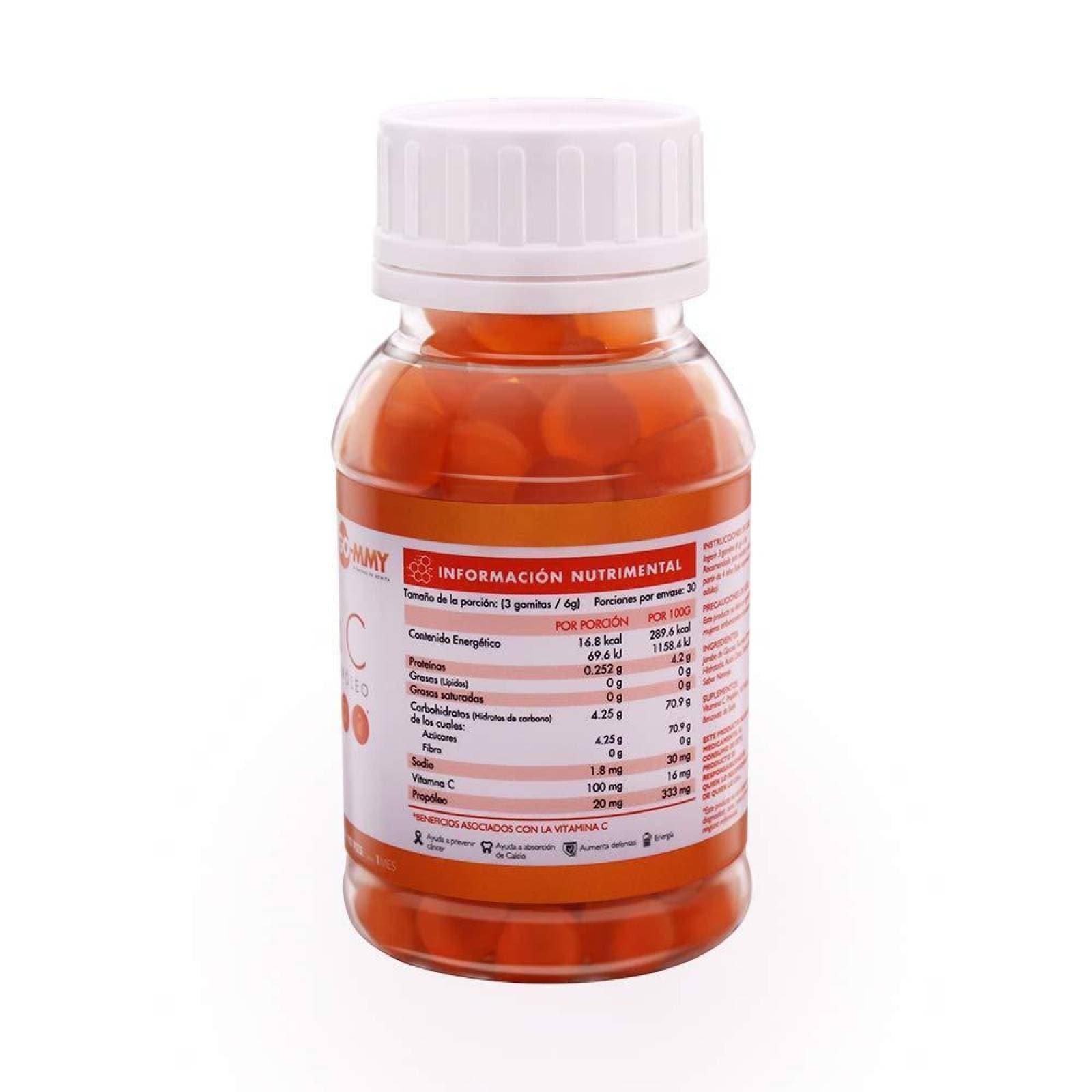Vitamina C en gomitas GO-MMY GO Vita C 3 Frascos