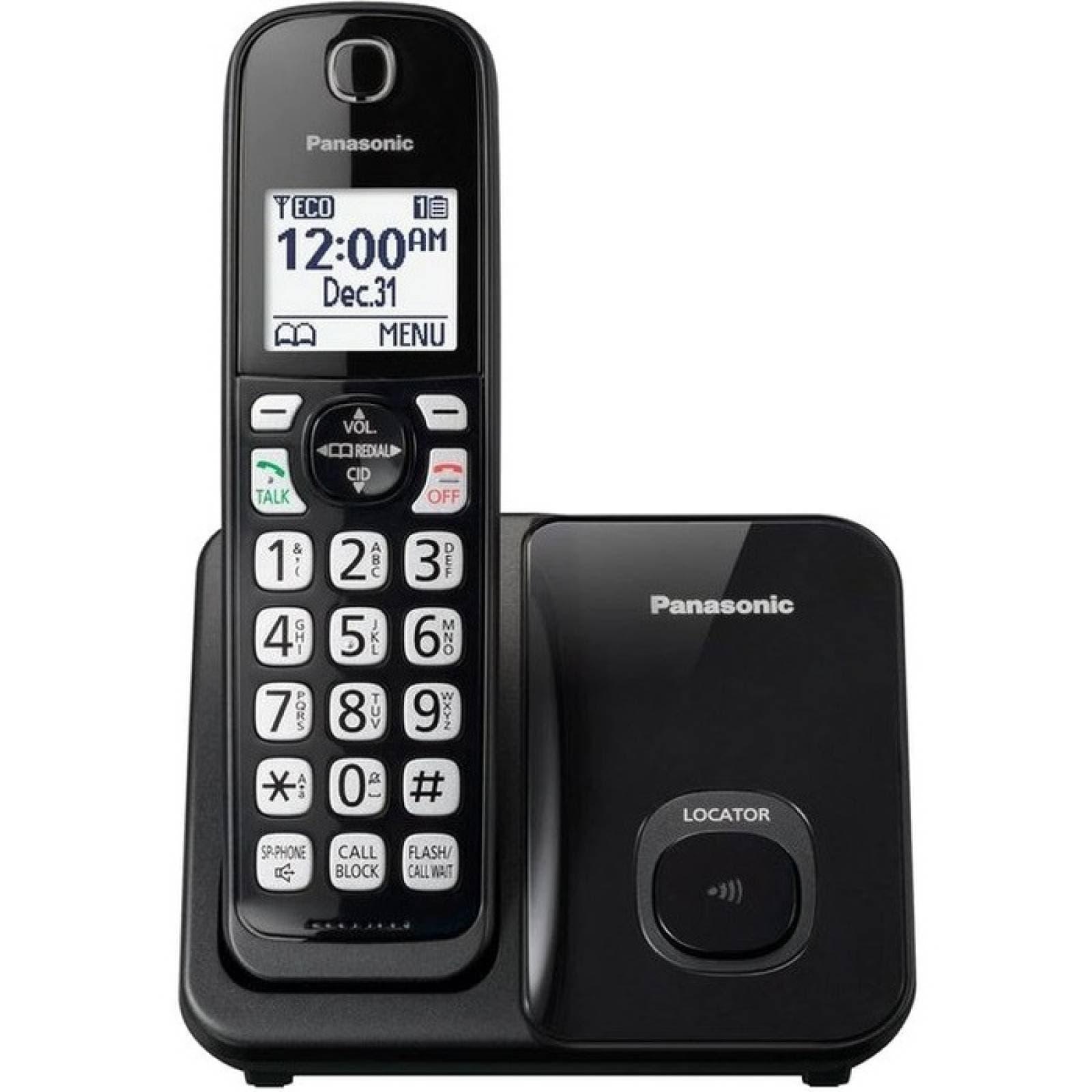 Telfono inalmbrico Panasonic KXTGD510B DECT 60 a 193 GHz  Negro