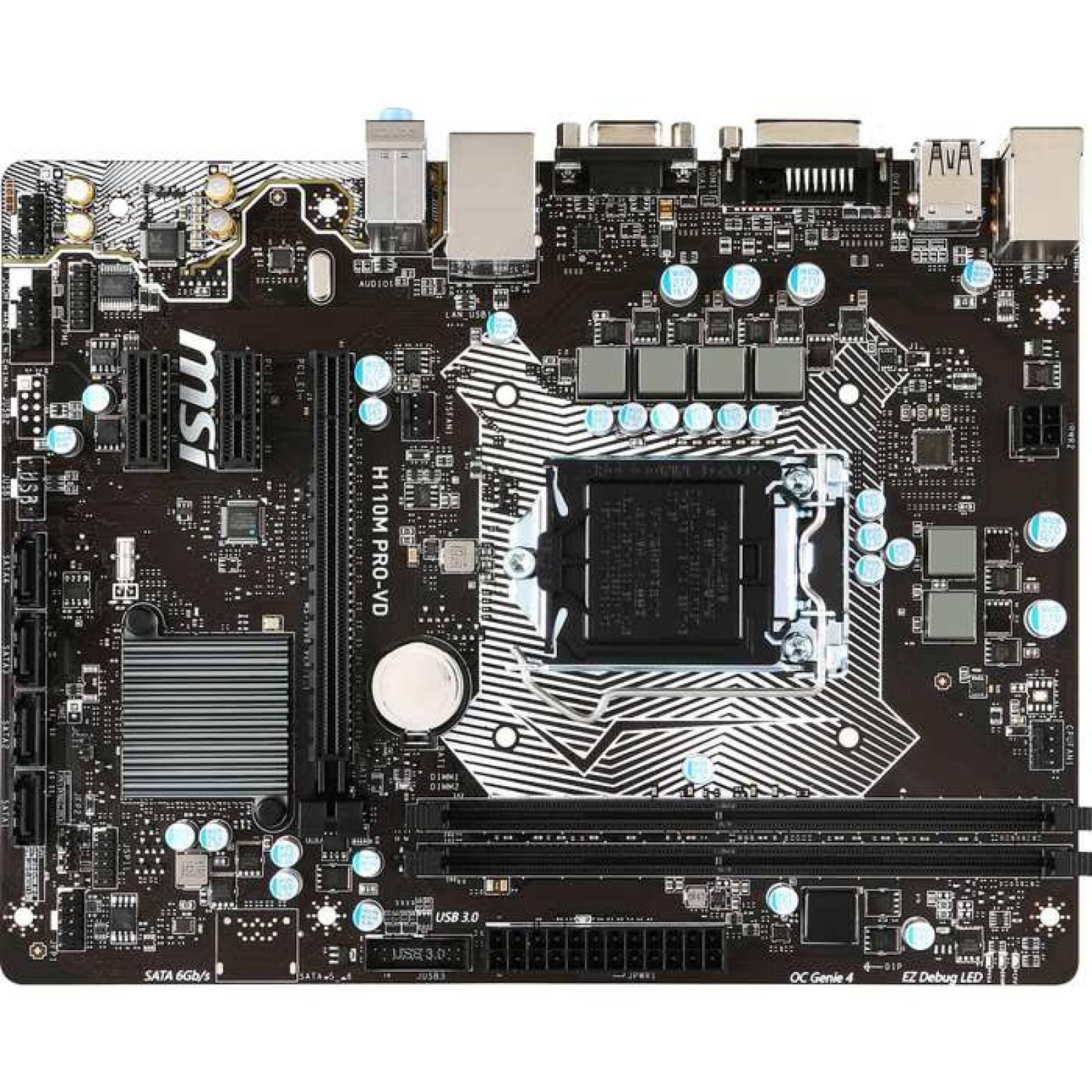 Placa madre de escritorio MSI H110M PROVD  Chipset Intel  Socket H4 LGA1151