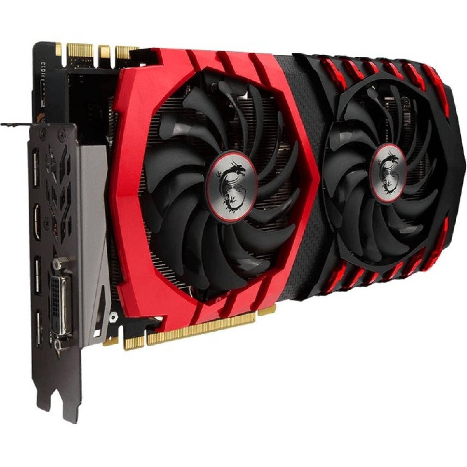 Tarjeta grfica GeForce GTX 1080 MSI GTX 1080 GAMING X 8G  Ncleo de 171 GHz  Reloj Boost de 185 GHz  8 GB GDDR5X