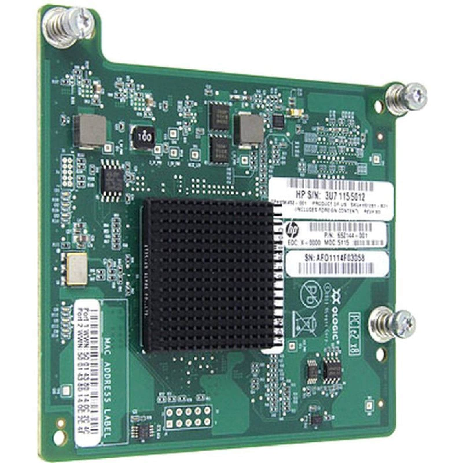 HPE QMH2572 HBA FC de 8 Gb para BladeSystem cClass
