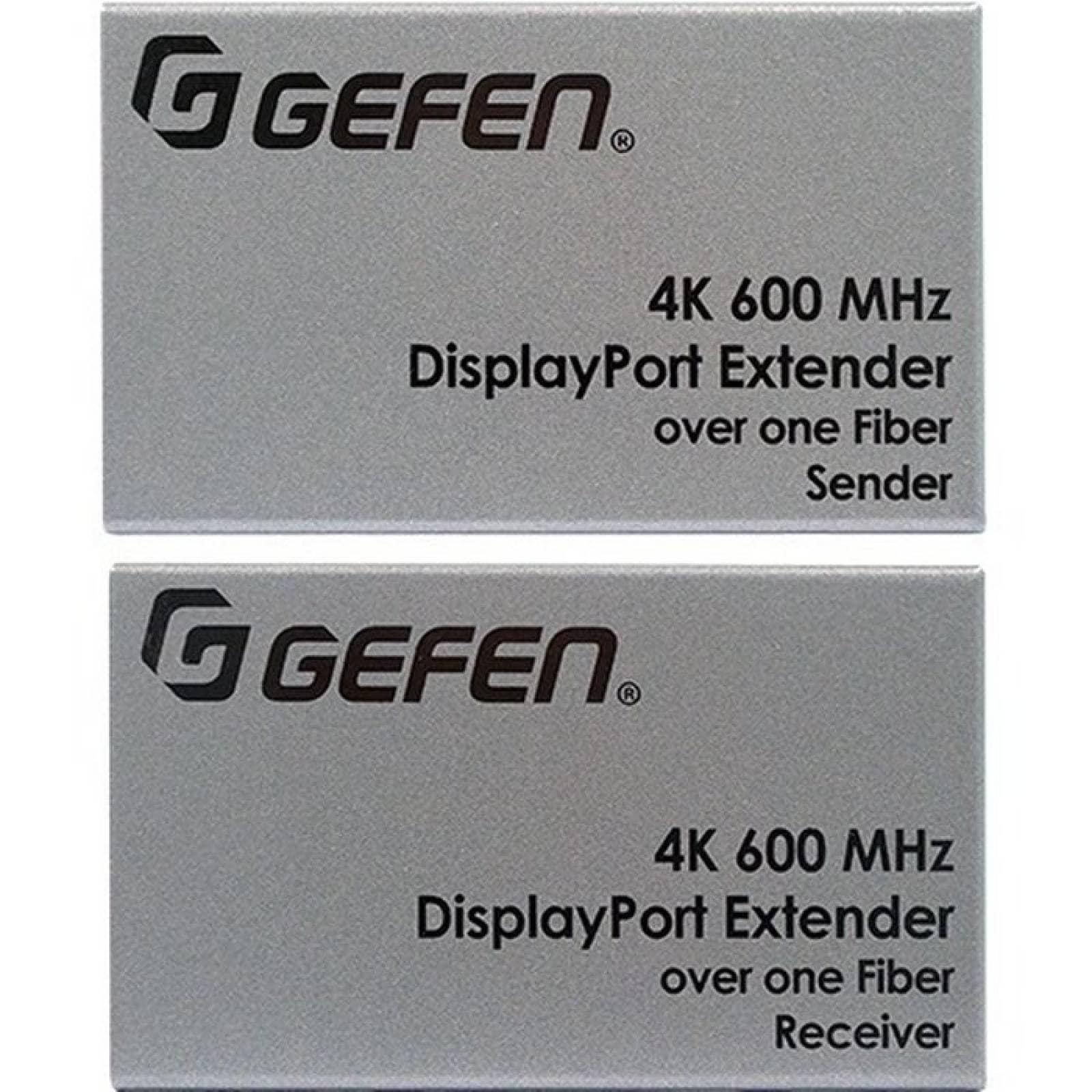 Gefen Ultra HD 600MHz DisplayPort 12 Extender sobre un cable FiberOptic con terminacin SC
