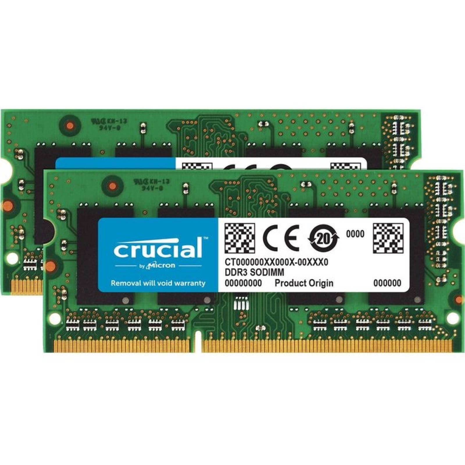Mdulo de memoria SDRAM DDR3 de 16 GB (2 x 8 GB) crucial