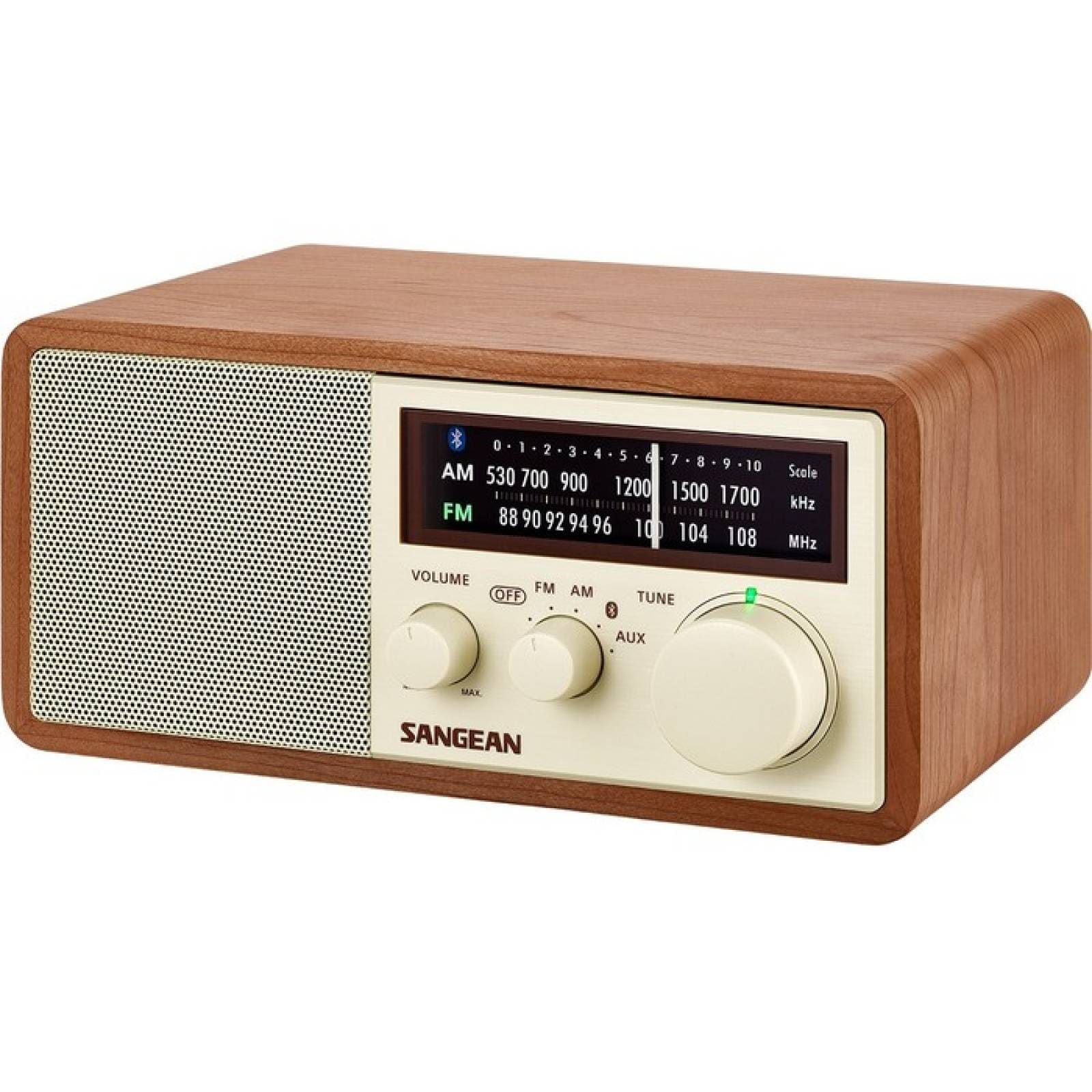 AM  FM  BT RADIO DE GABINETE DE MADERA