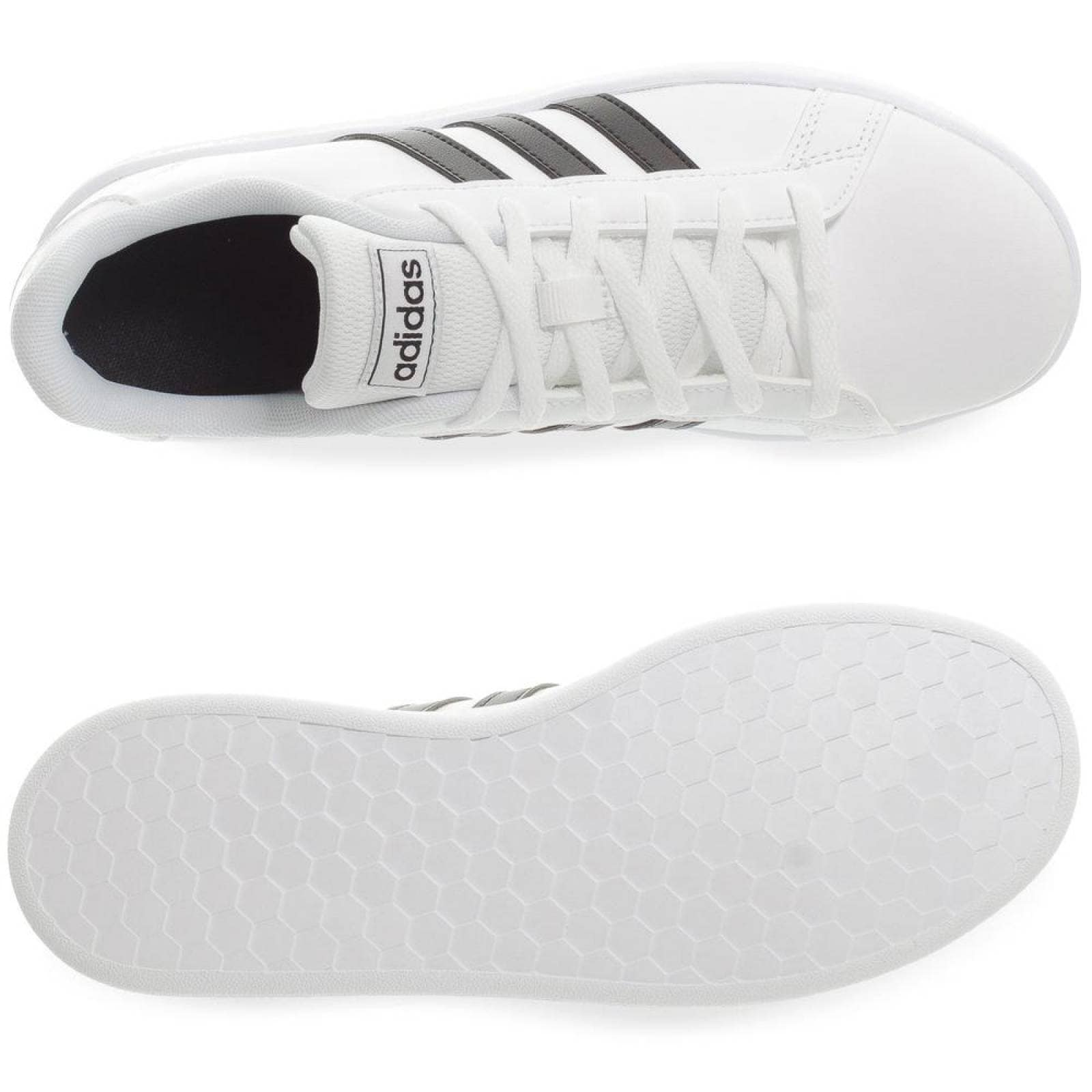 Tenis Adidas Grand Court K EF0103 Blanco Niños