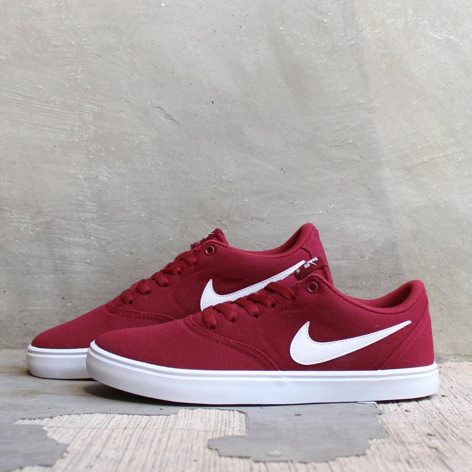 Tenis Nike SB Check Solar 843896602 Rojo Hombre