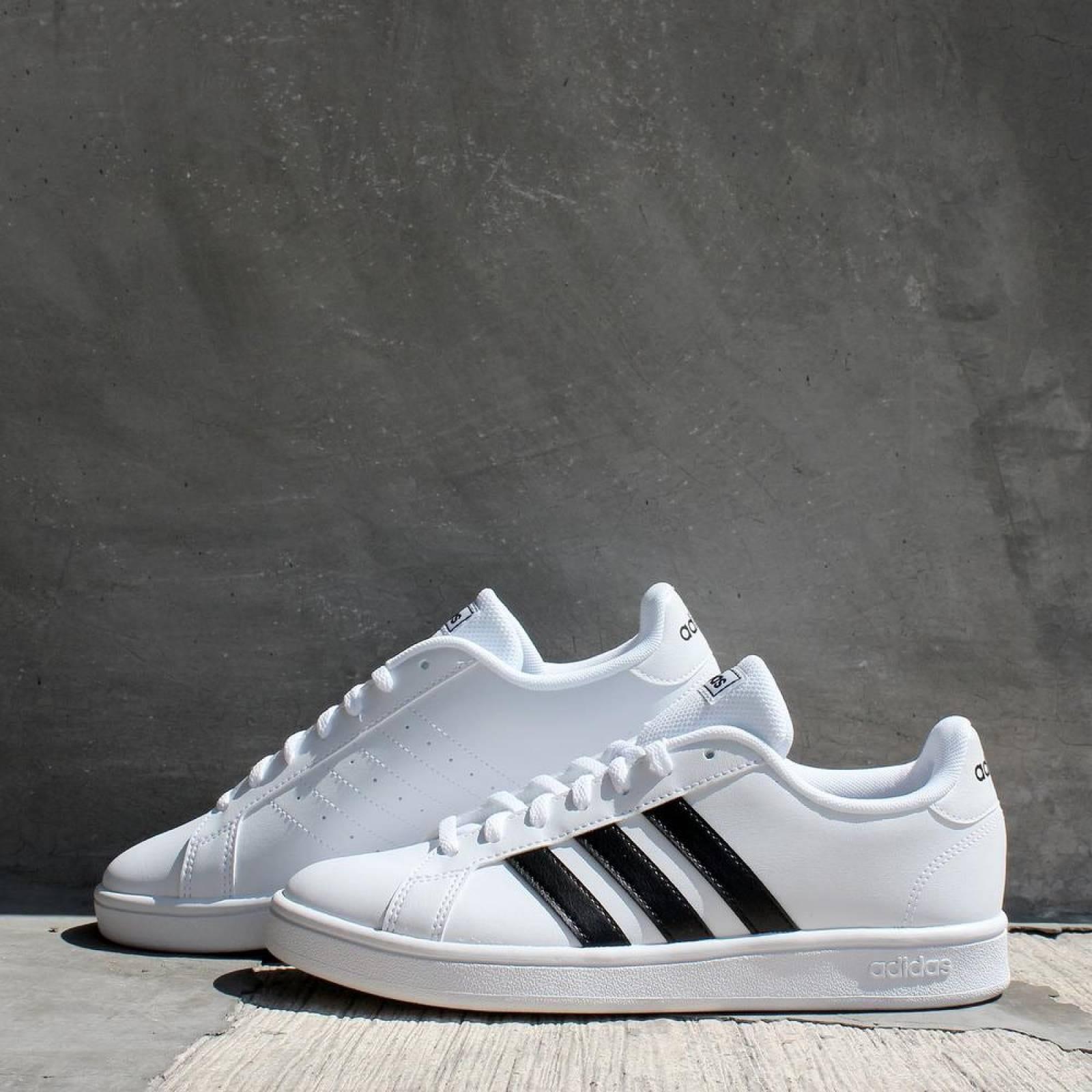 adidas grand court base blanco