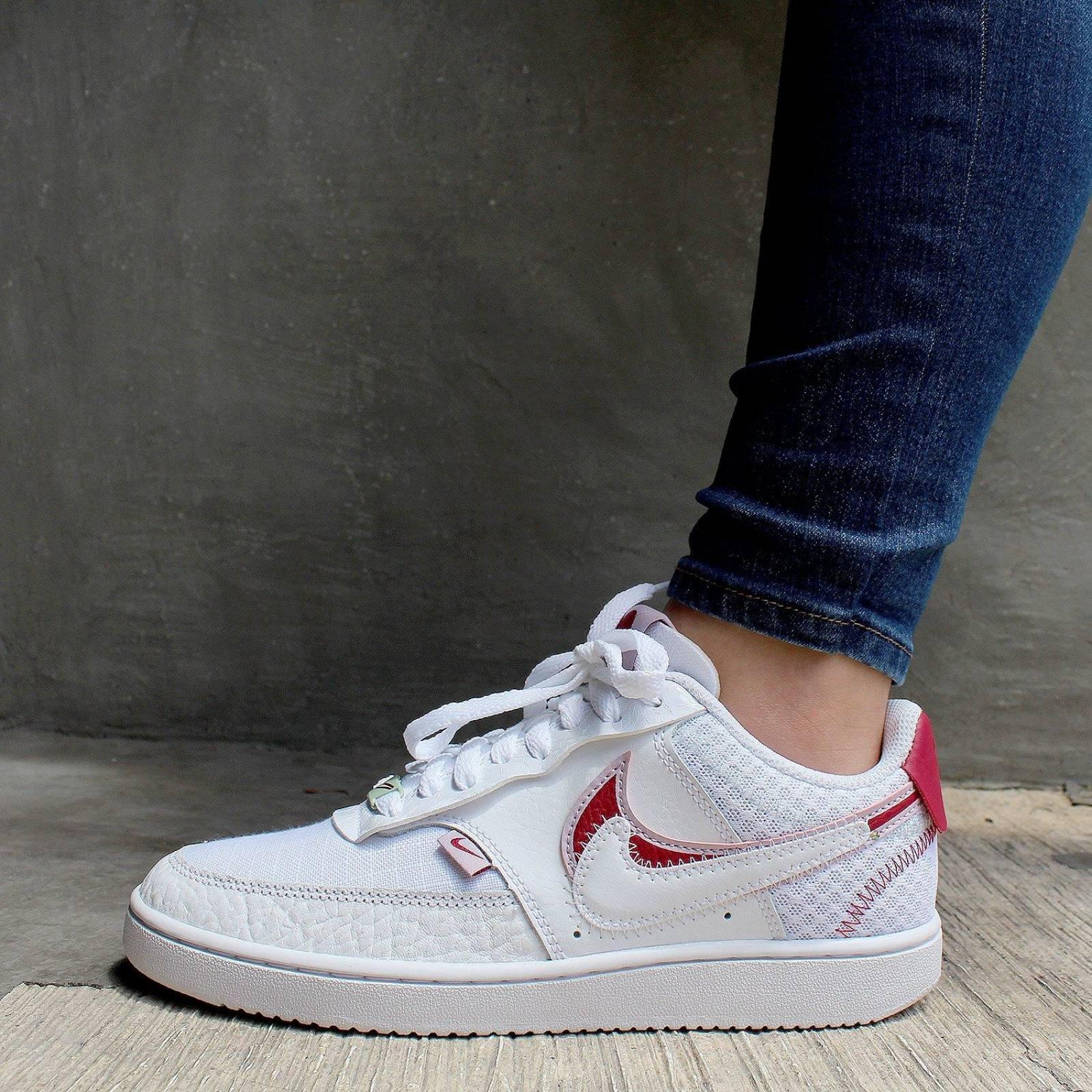 Tenis Nike Court Vision Low Premium - CI7827100 - Blanco - Mujer