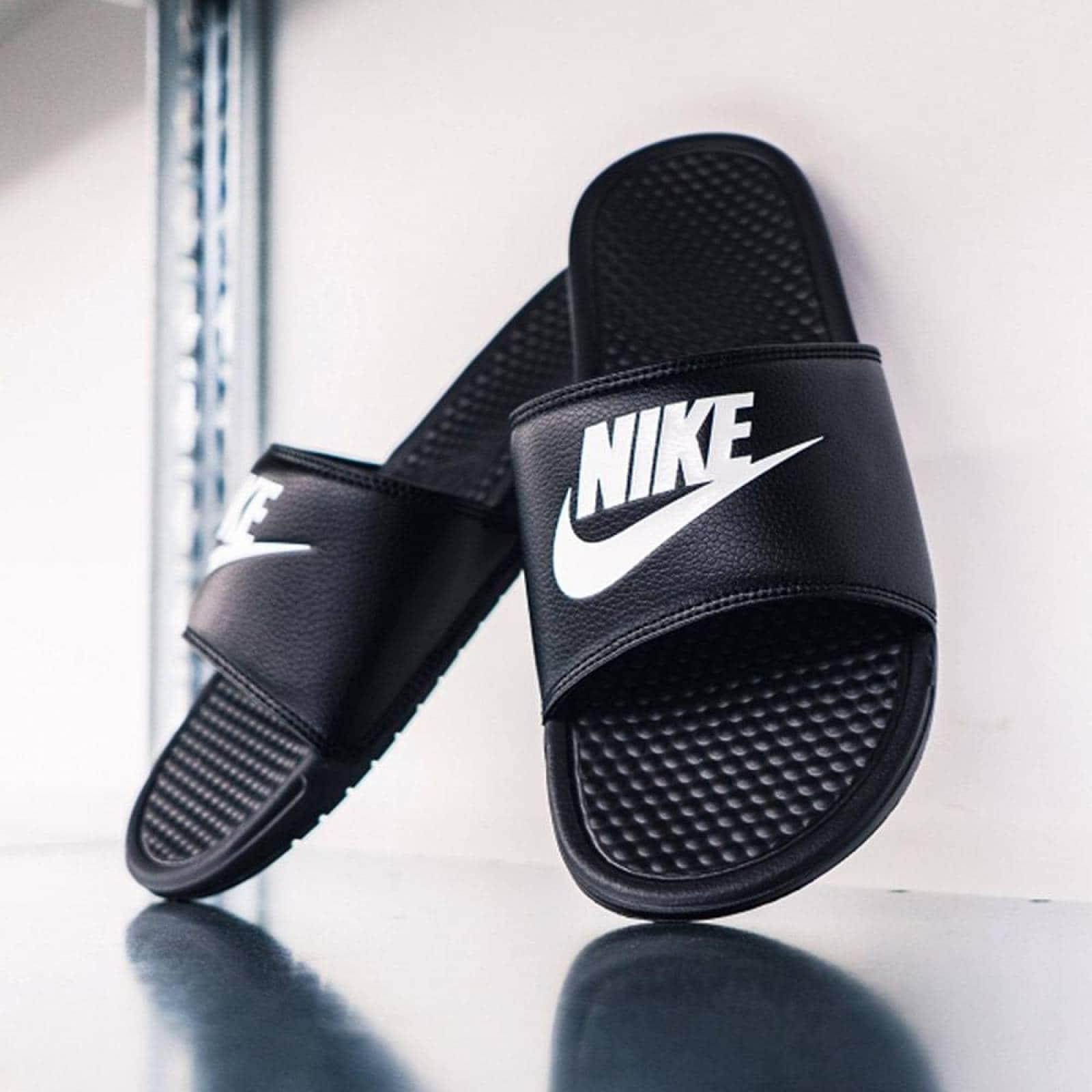 naranja estante Maestría  Sandalias Nike Benassi JDI - 343880090 - Negro - Hombre