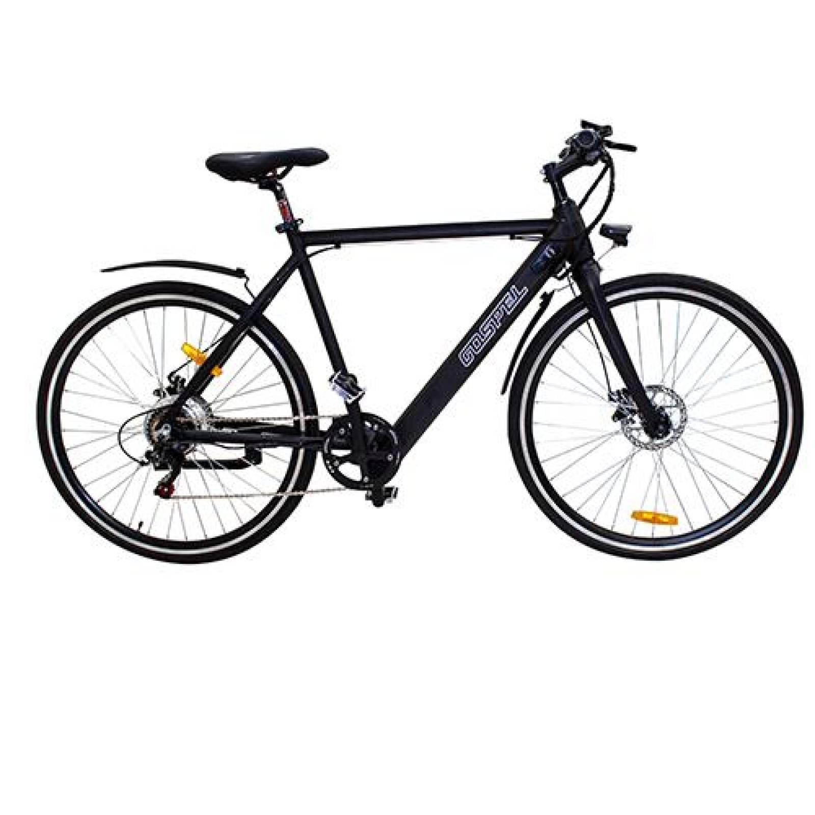 Bicicleta Eléctrica R700 C Road Master Negra Híbrida Gospel
