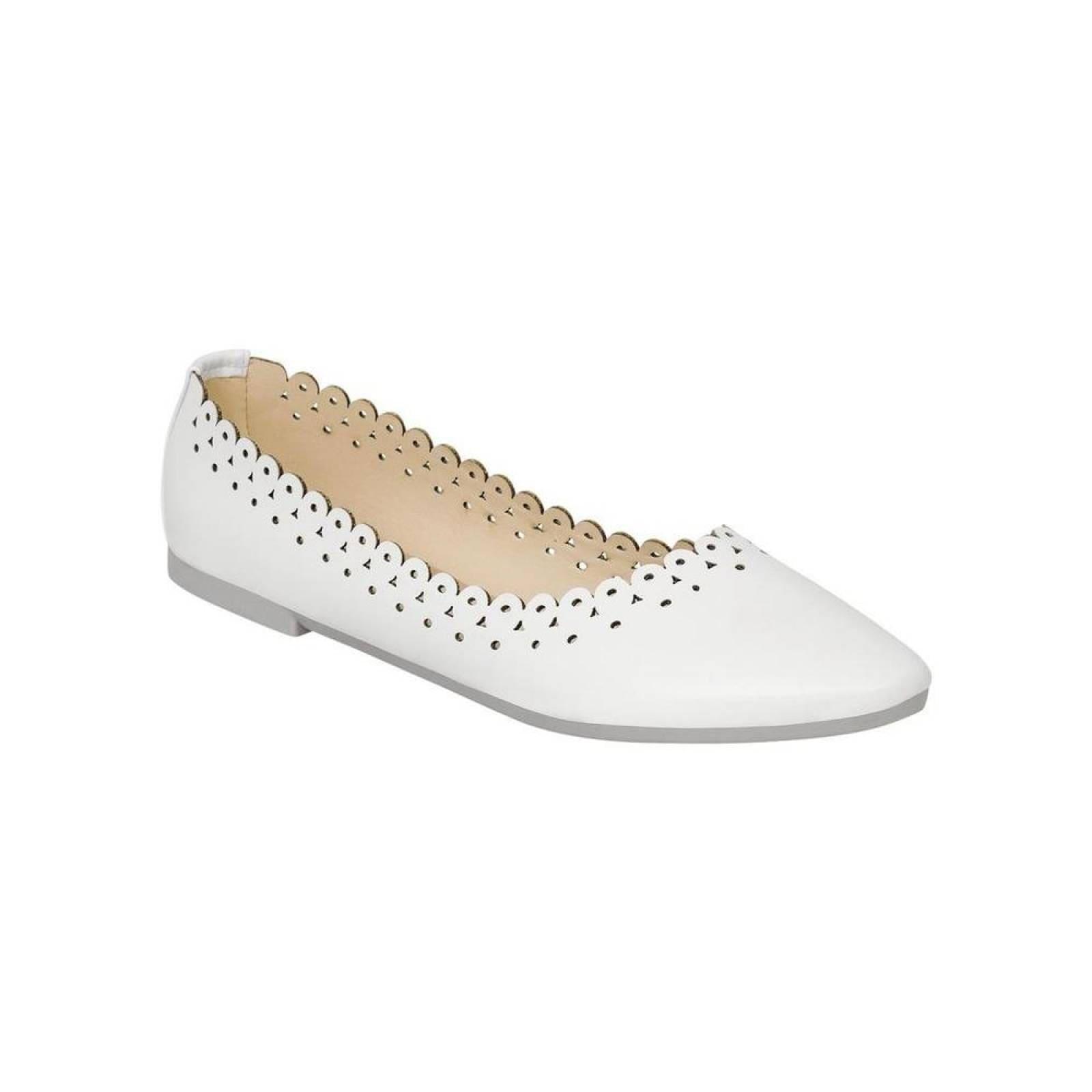 Flat Ivi Love Mujer Blanco Tipo Napa 2041