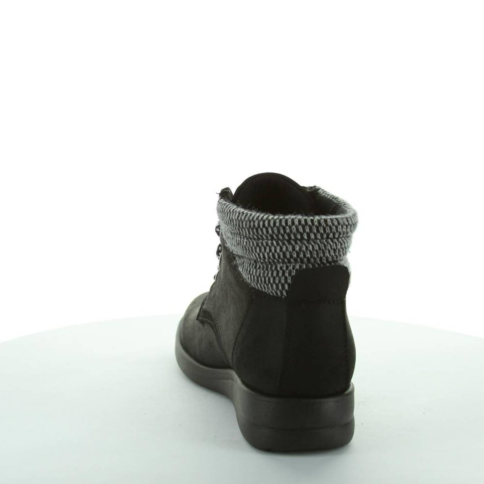 Botin Codicias Mujer Negro Tipo Nobuk 14024