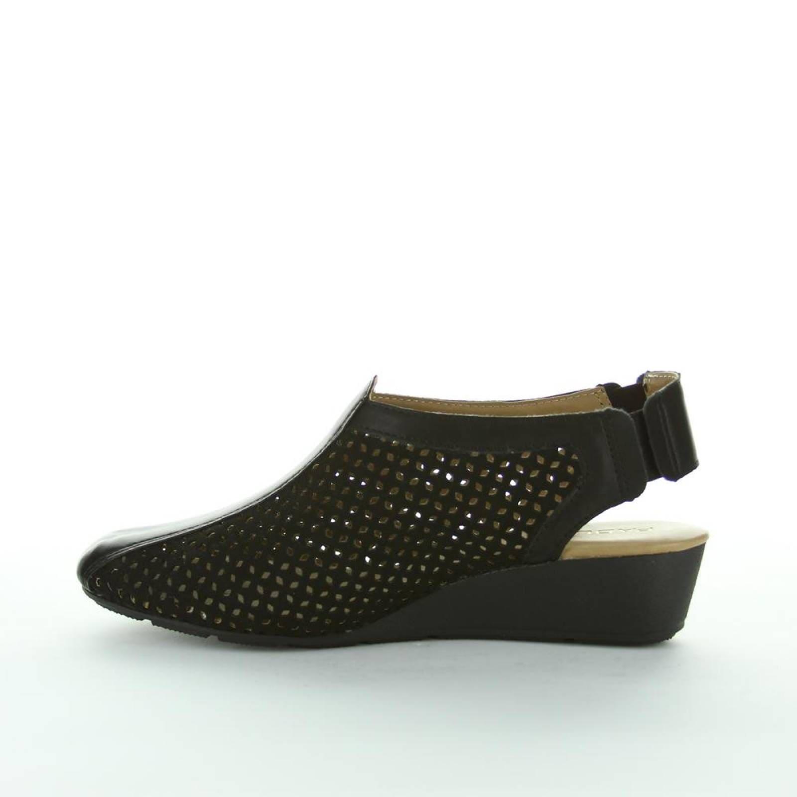 Zapato Cerrado Padus Mujer Negro Tipo Nobuk Har4004