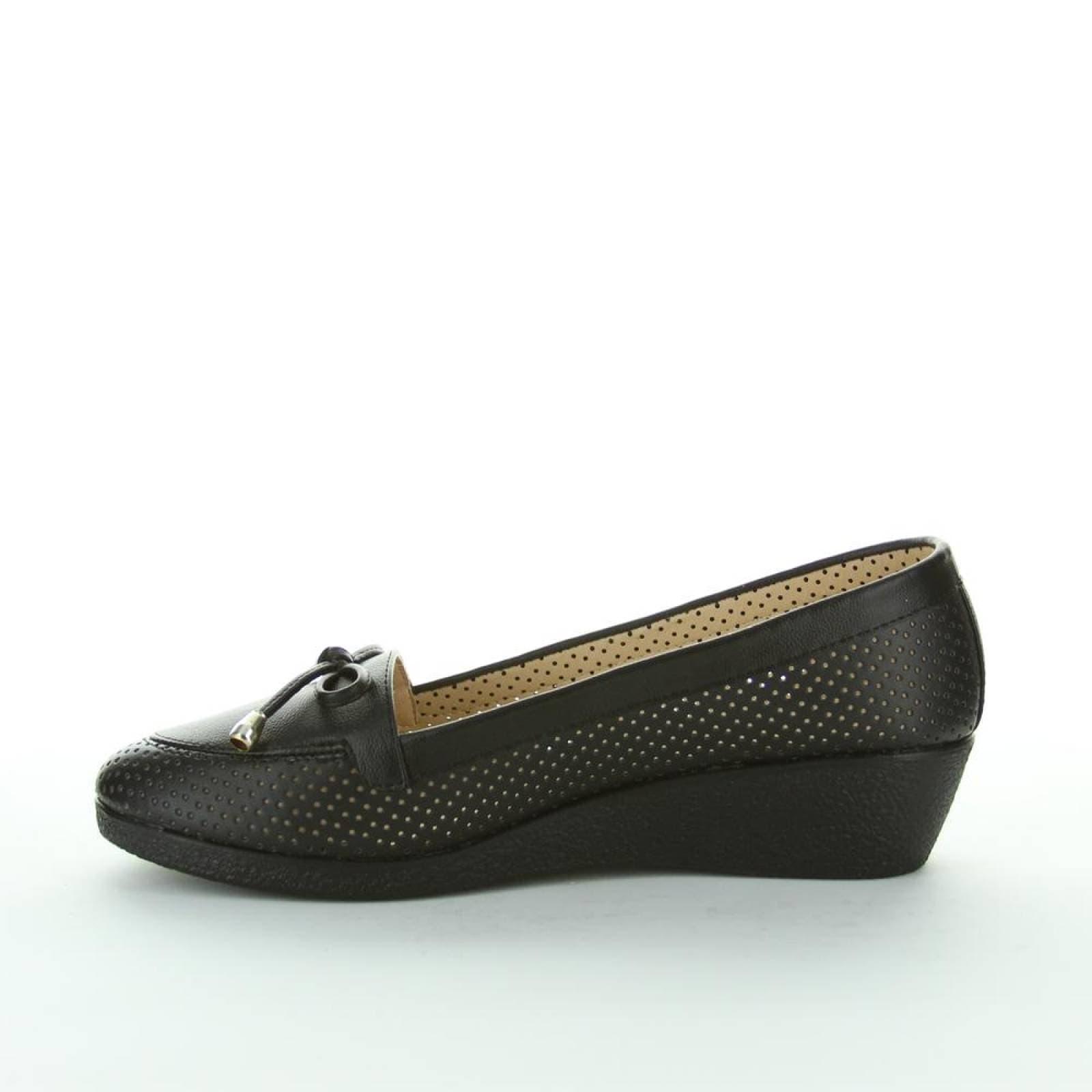 Zapato Cerrado Padus Mujer Negro Tipo Napa Nub016