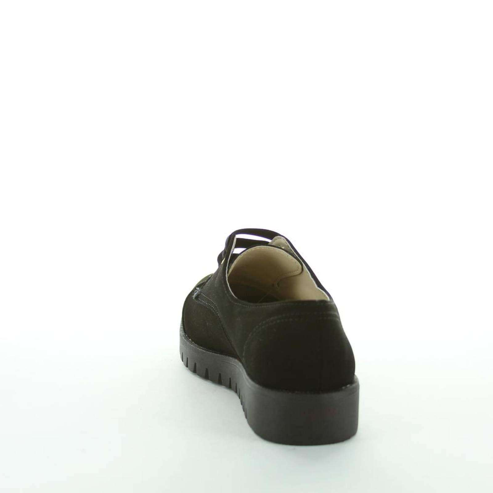Zapato Cerrado Lory Mujer Negro Tipo Nobuk 9030