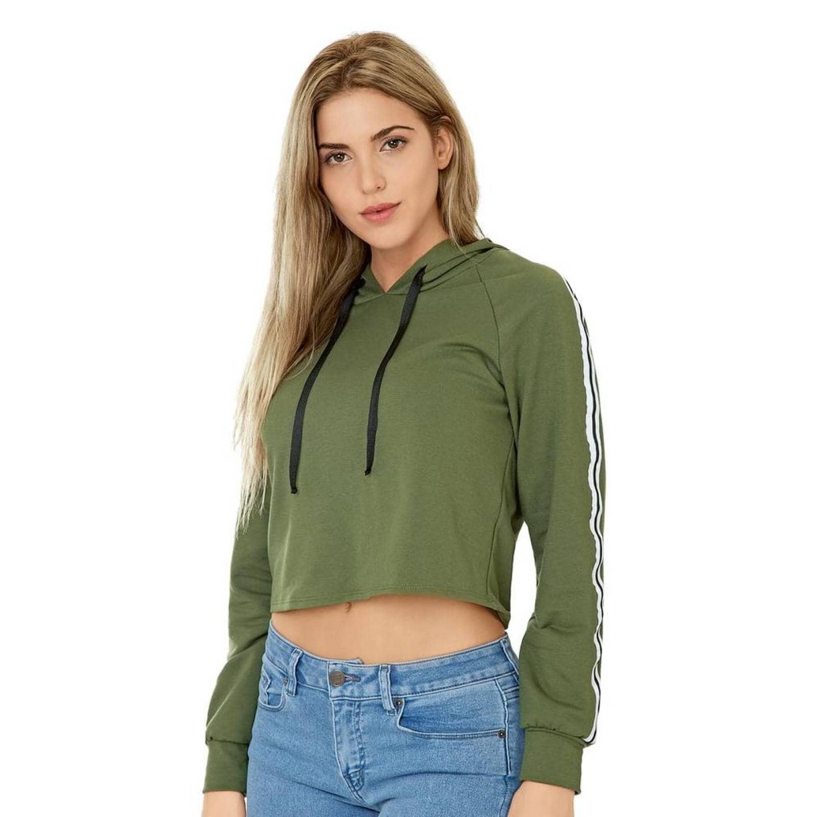 Sudadera Personality Mujer Verde AlgodonPoliester 2302
