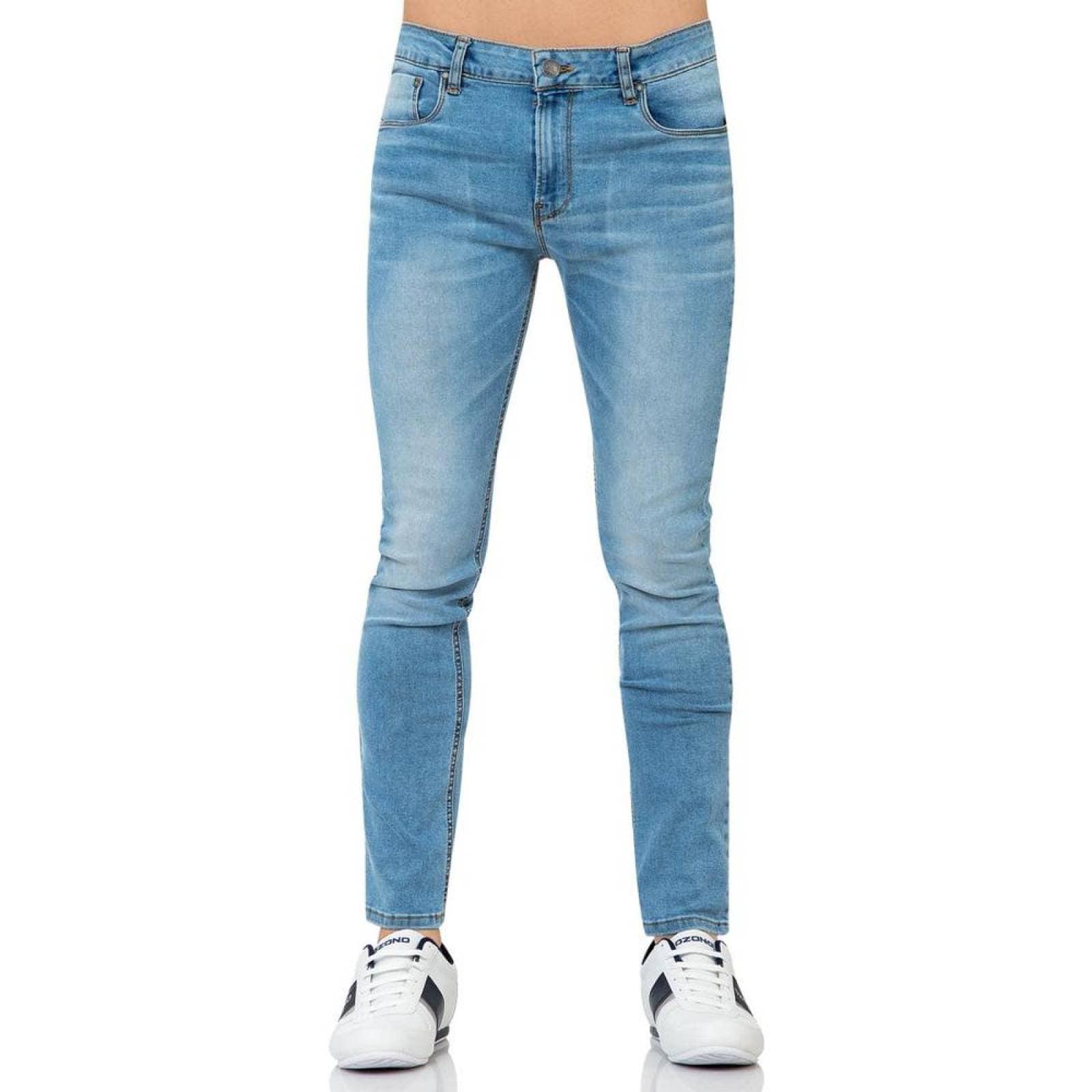 Jeans Furor Hombre 10103128 Bleach Mezclilla Stretch Rolling
