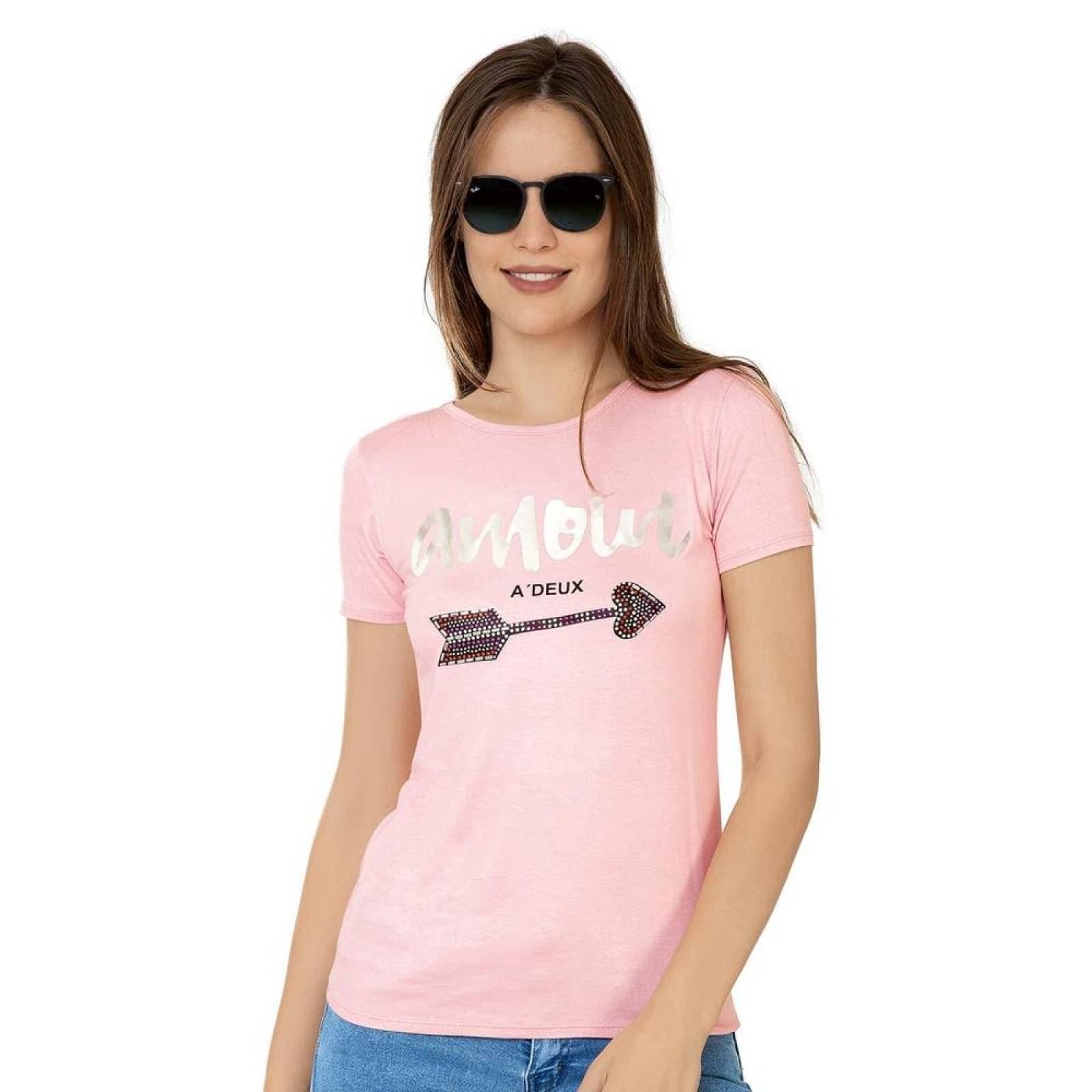 Playera Mandarine Mujer Rosa Spandex 100137