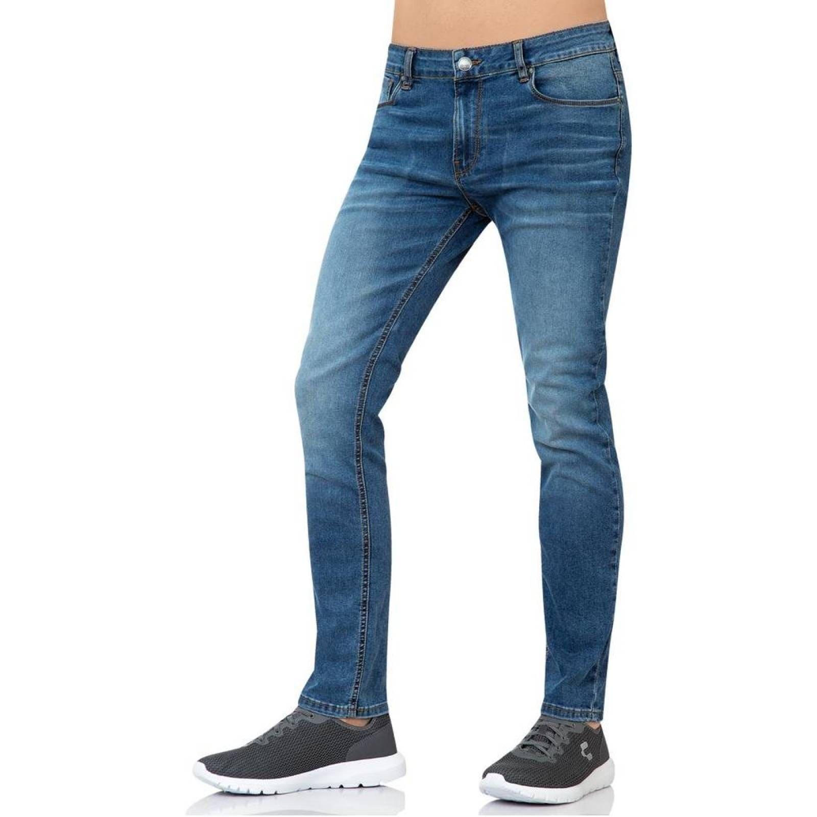 Jeans Furor Hombre Azul MezclillaStretch Rolling