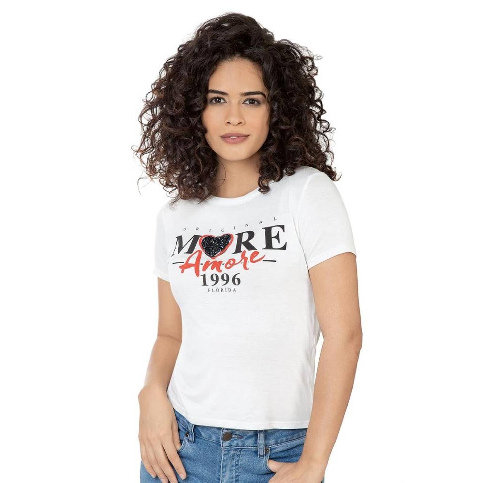 Playera Mandarine Mujer Hueso Spandex 9950