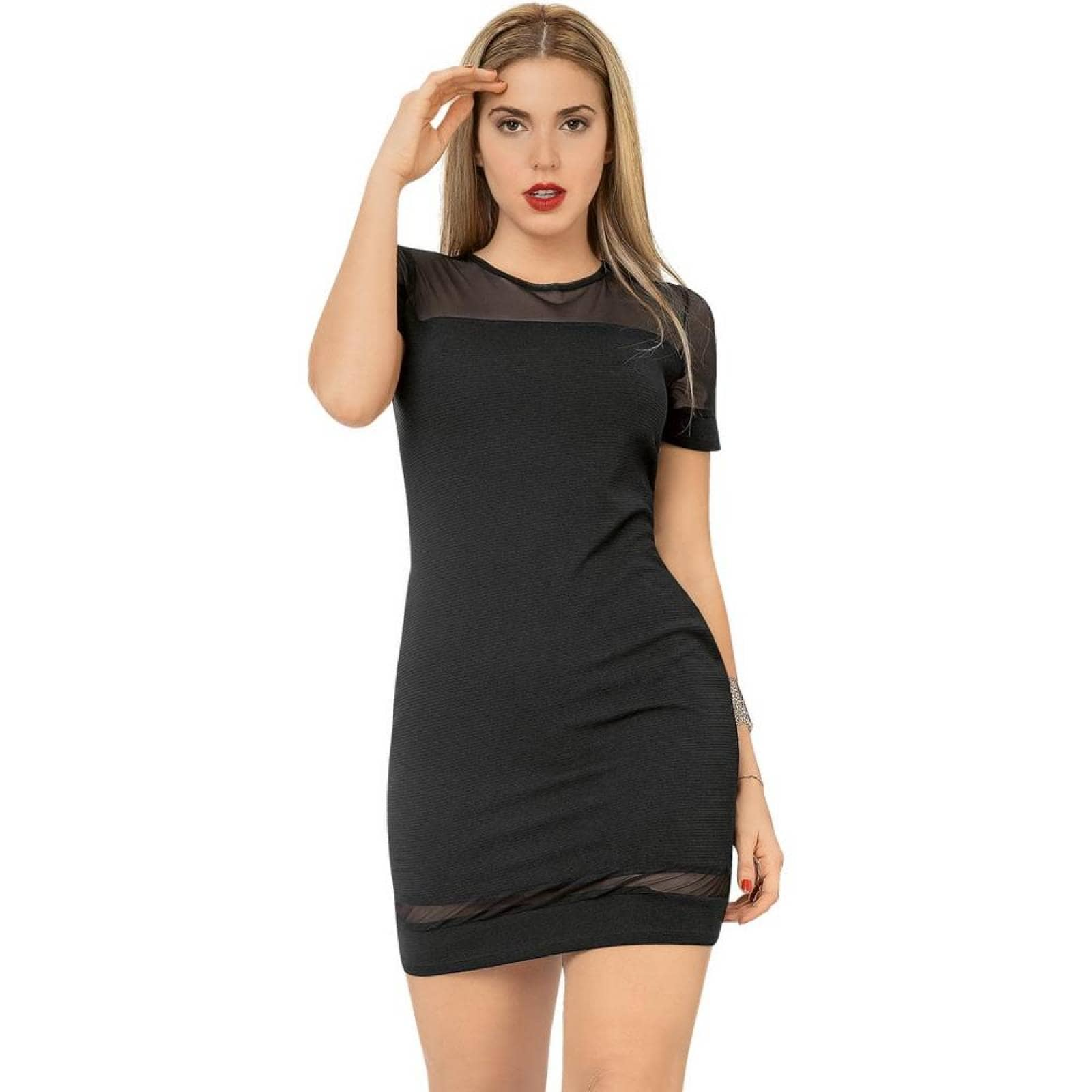 Vestido Ti Amo Mujer Negro Spandex 181182
