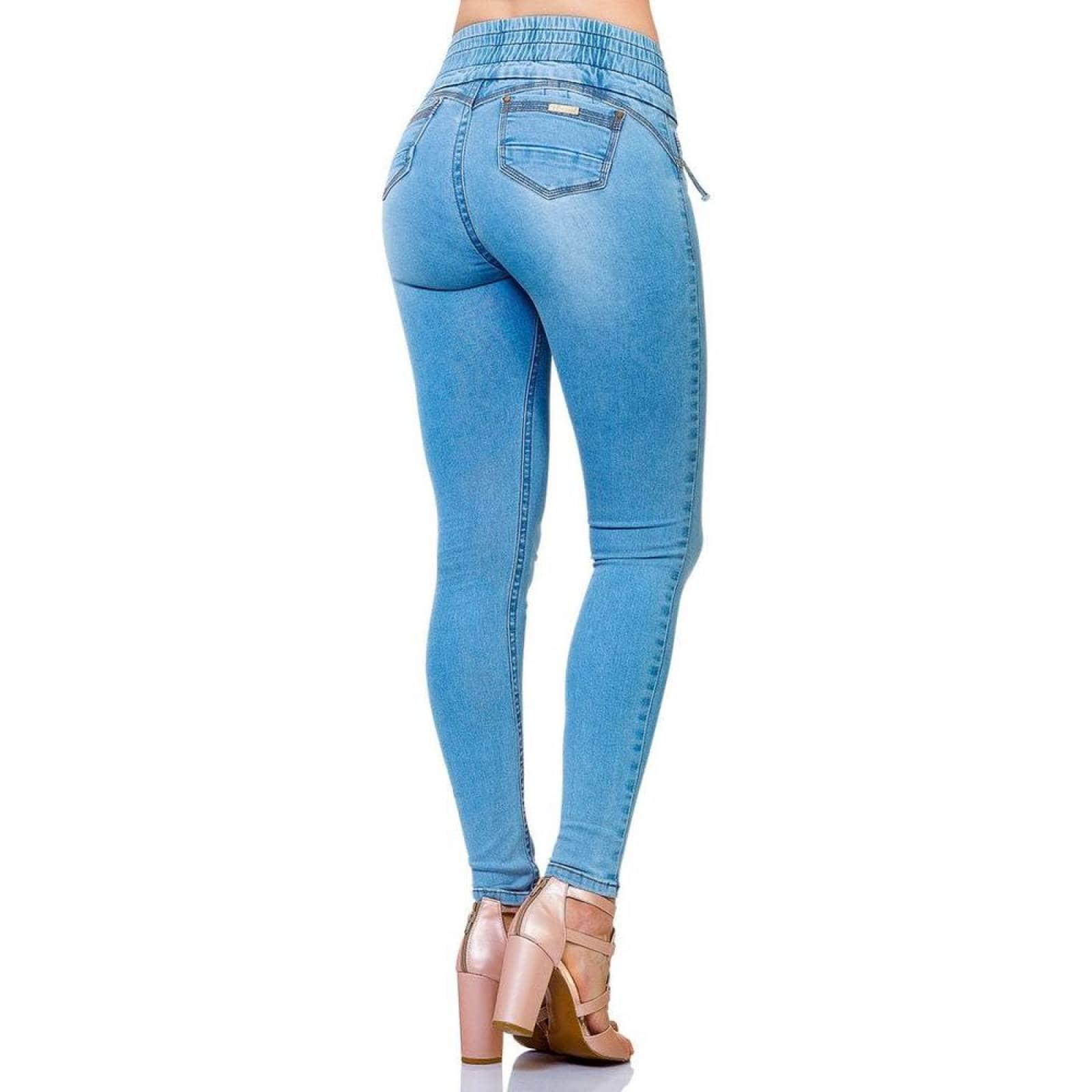 Jeans Moda Mujer Salvaje Tentacion Bleach 71803110 Mezclilla Stretch