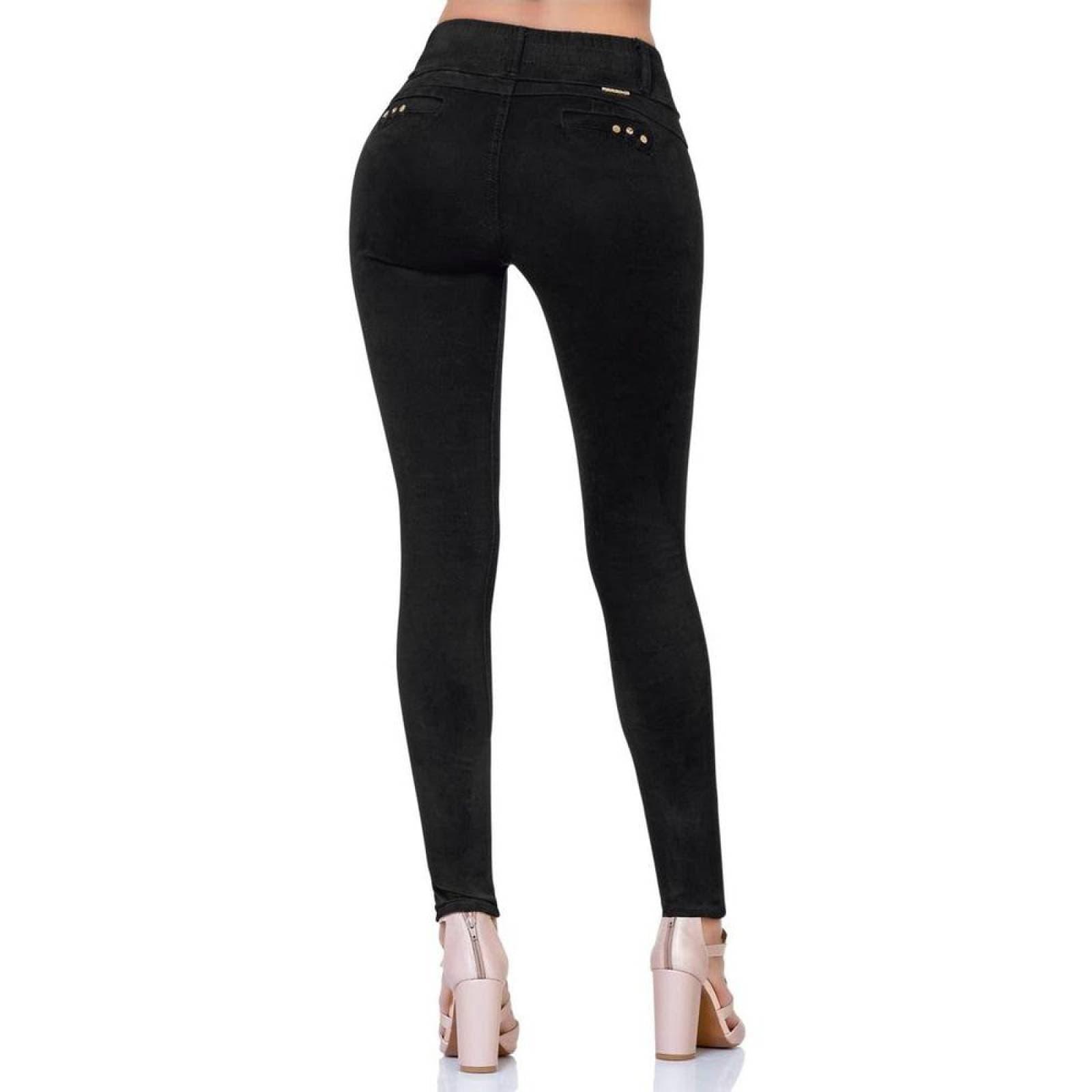 Pantalon Casual Mujer Fergino Negro 52900355 Gabardina Stretch