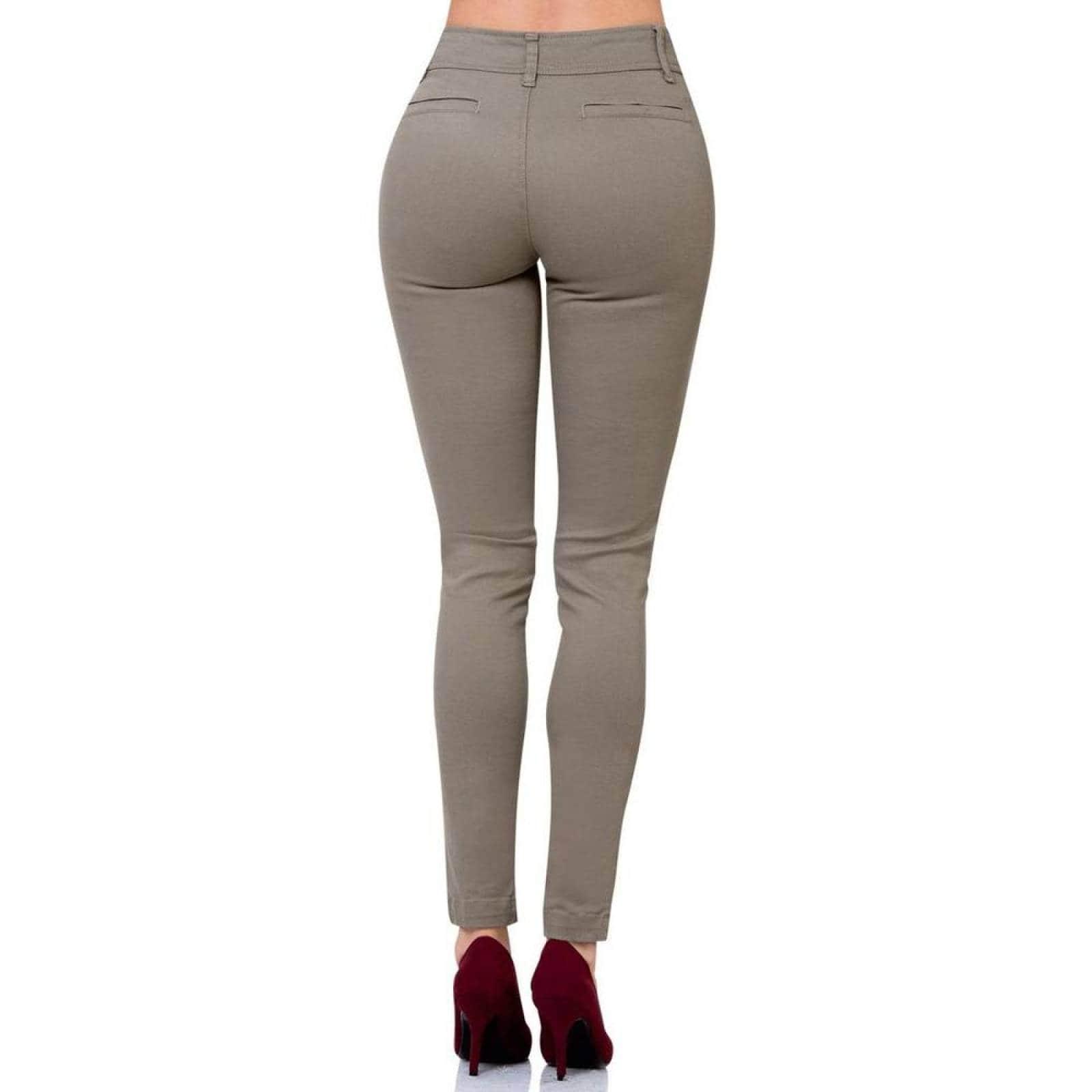 Pantalon Casual Mujer Scandia Khaki 65003000 Gabardina Stretch