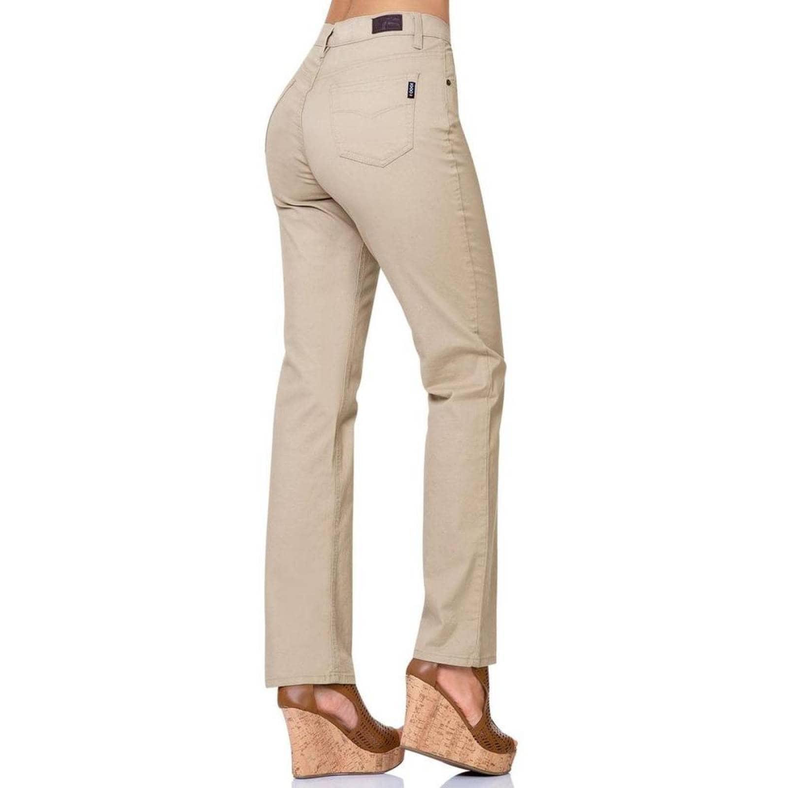Pantalon Casual Mujer Oggi Khaki 59102049 Gabardina Stretch
