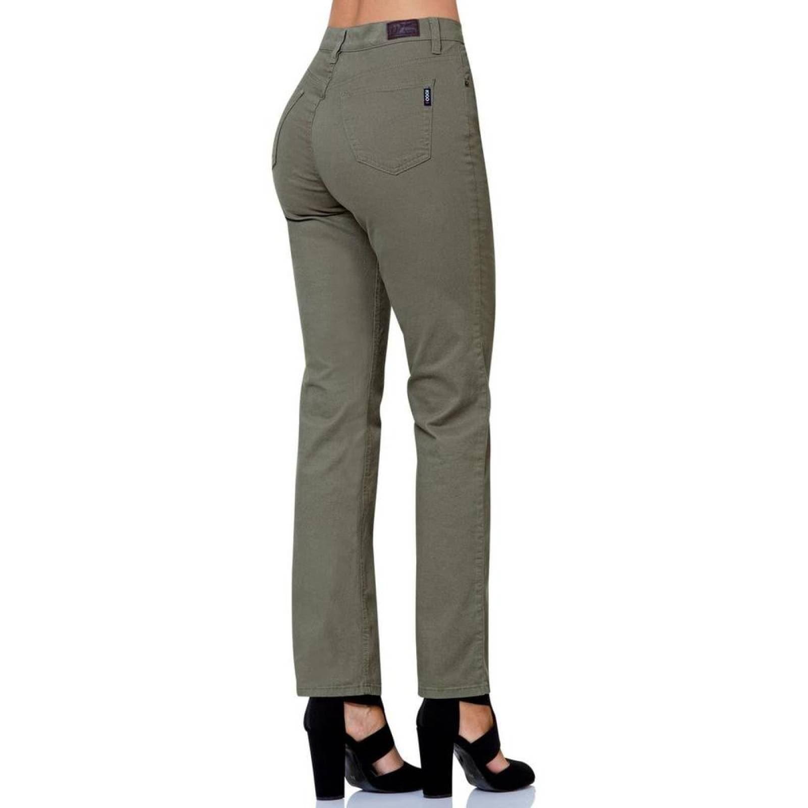 Pantalon Casual Mujer Oggi Olivo 59102051 Gabardina Stretch