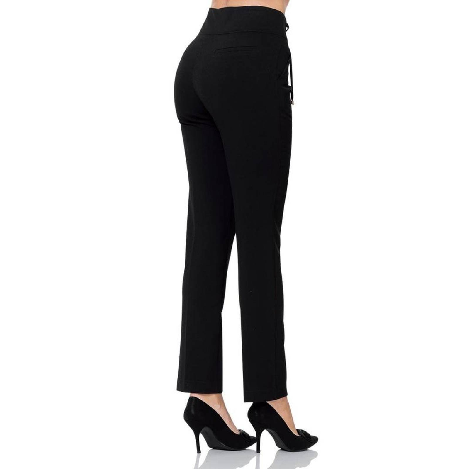 Pantalon De Vestir Barbary Mujer Negro Spandex J 1145