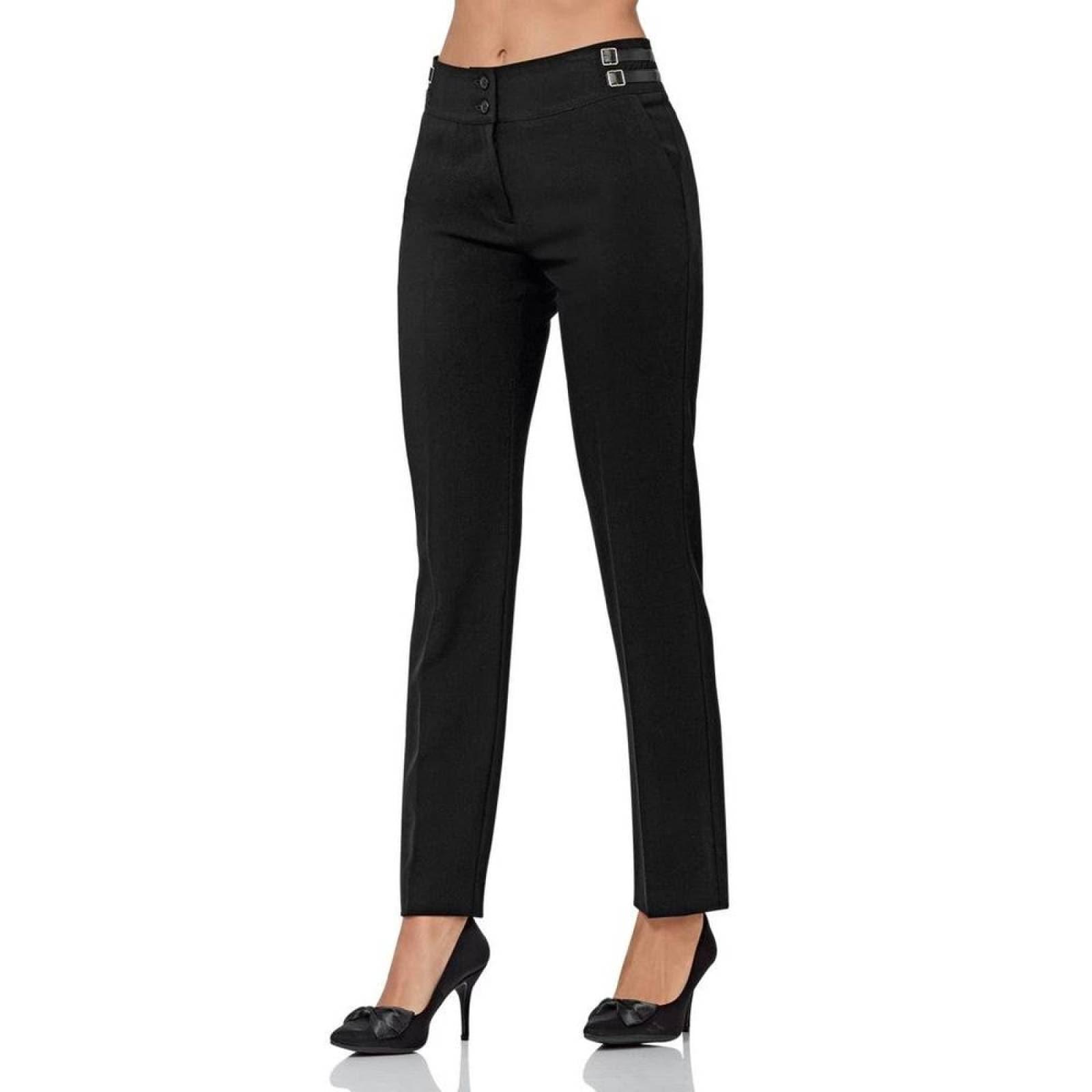 Pantalon De Vestir Barbary Mujer Negro Spandex D 1144