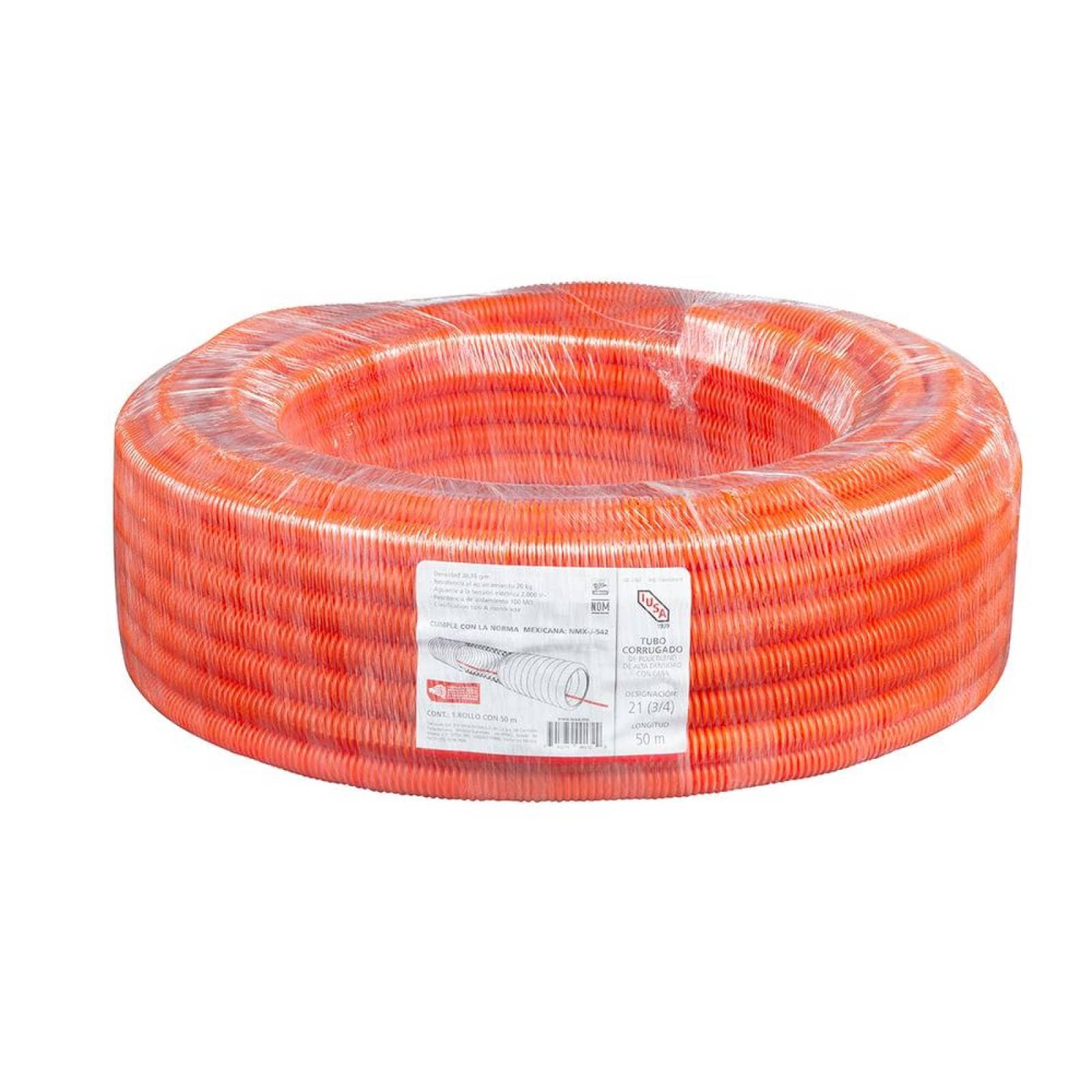 Poliducto corrugado 34 rollo 50 m