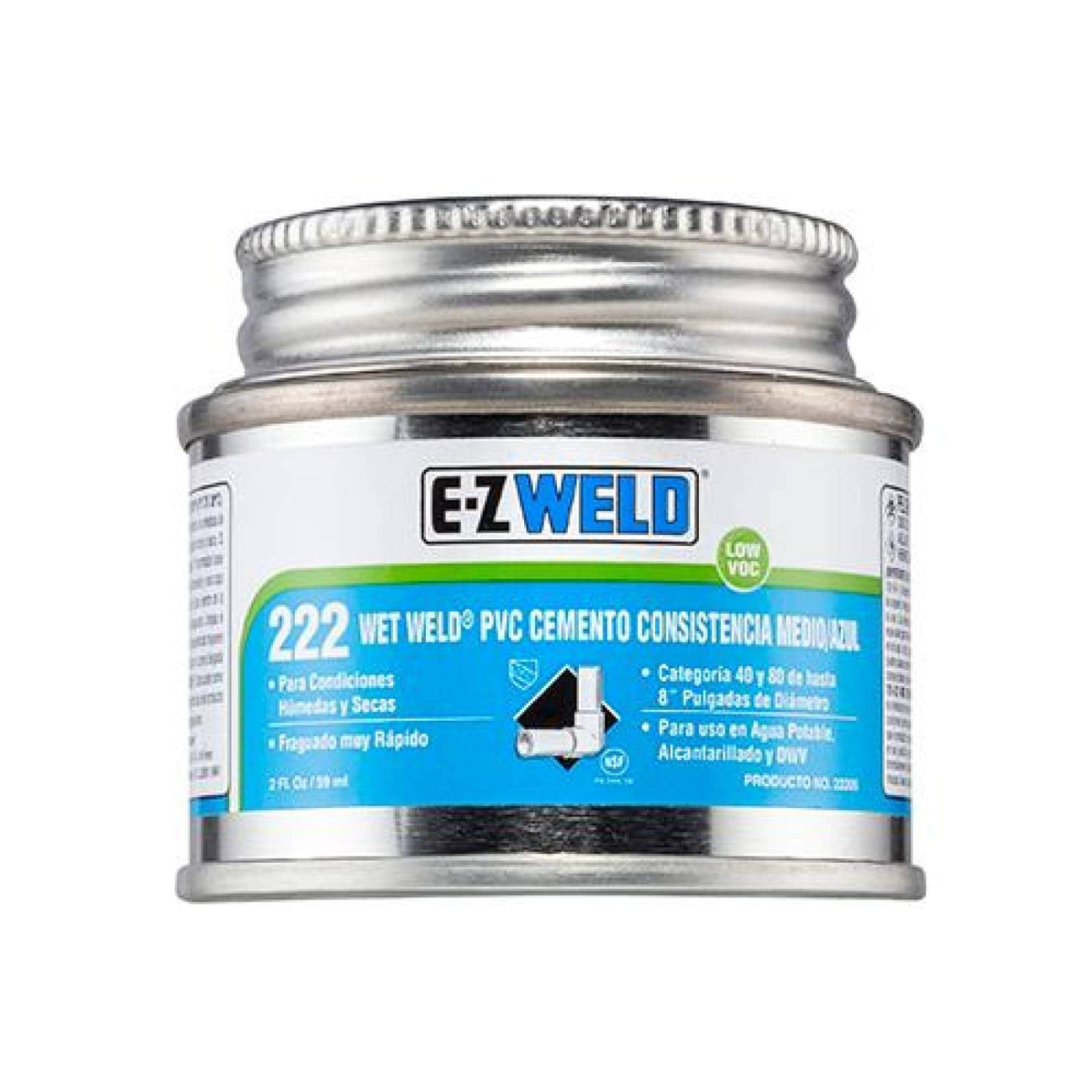 Cemento PVC C40 y C80 mod 222 azul EZ WELD 120ml
