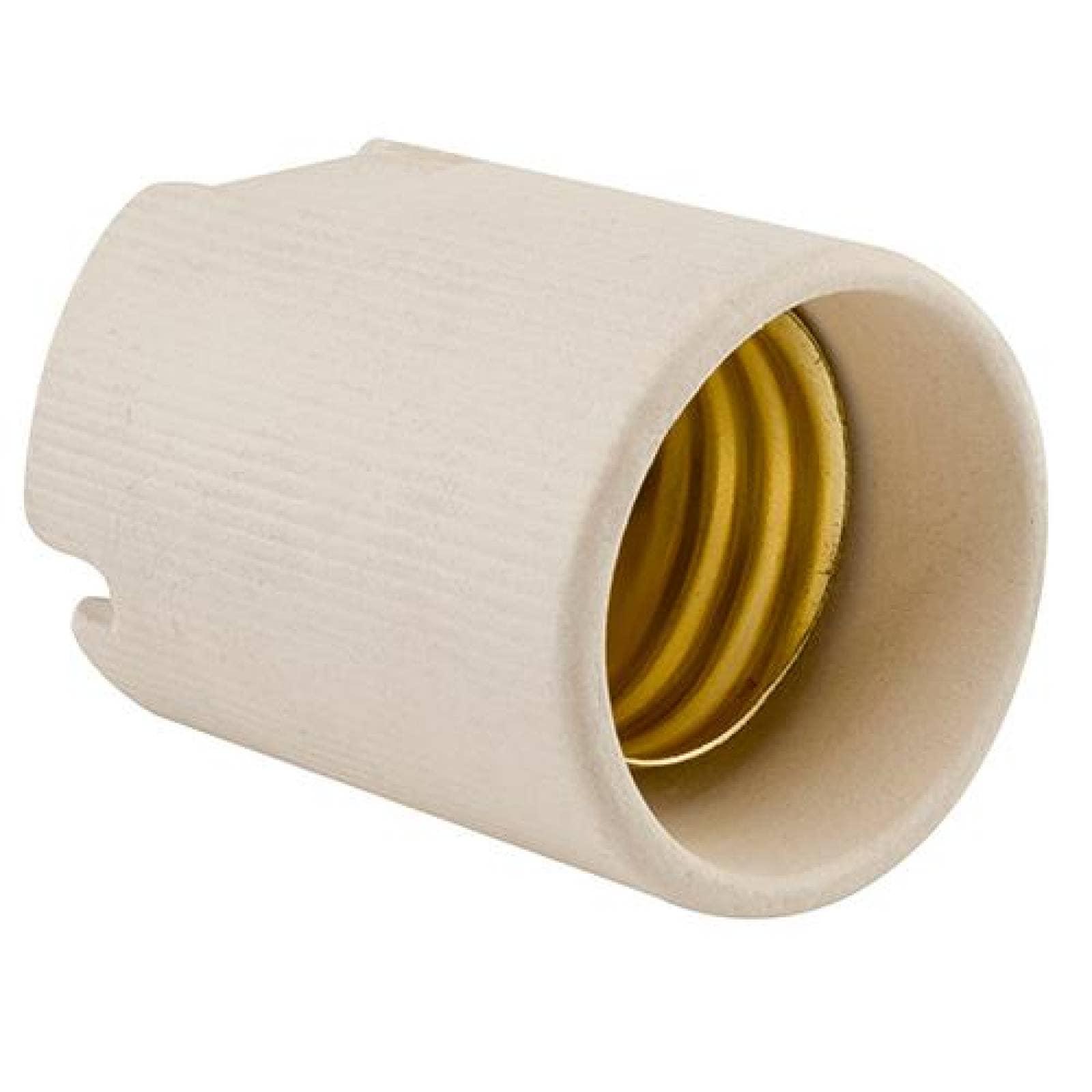 Portalámpara de porcelana base mogul