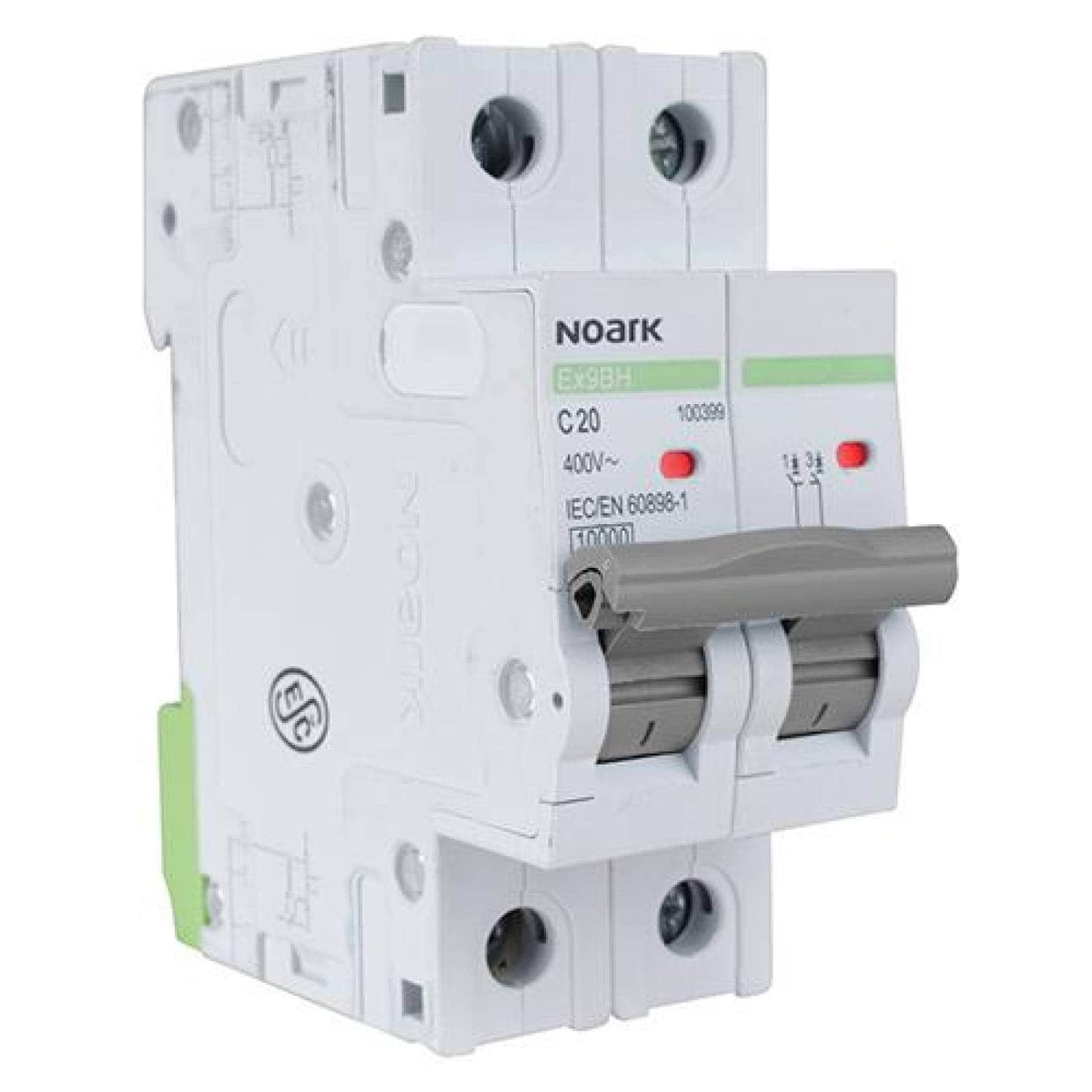 Interruptor termomagnético DIN 2 polos 6 A Caja 6 pzas