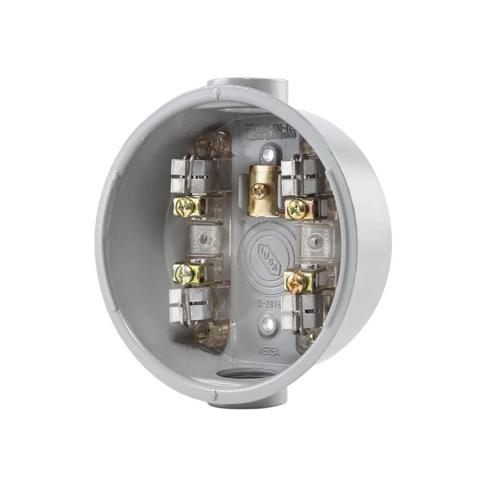 Base para watthorímetro monofásica 4 terminales
