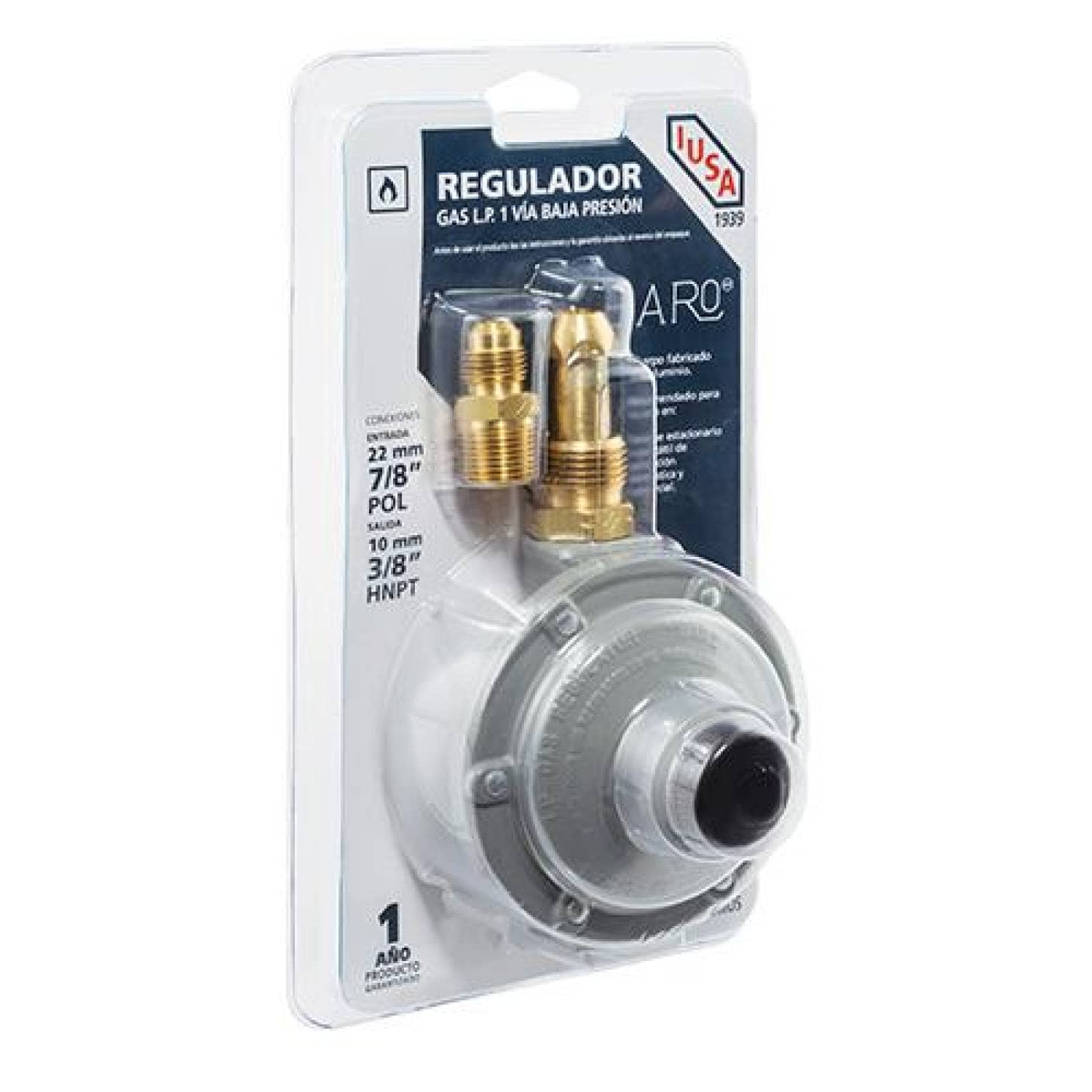 Regulador Baro para gas LP mod 102 Caja 10 pzas