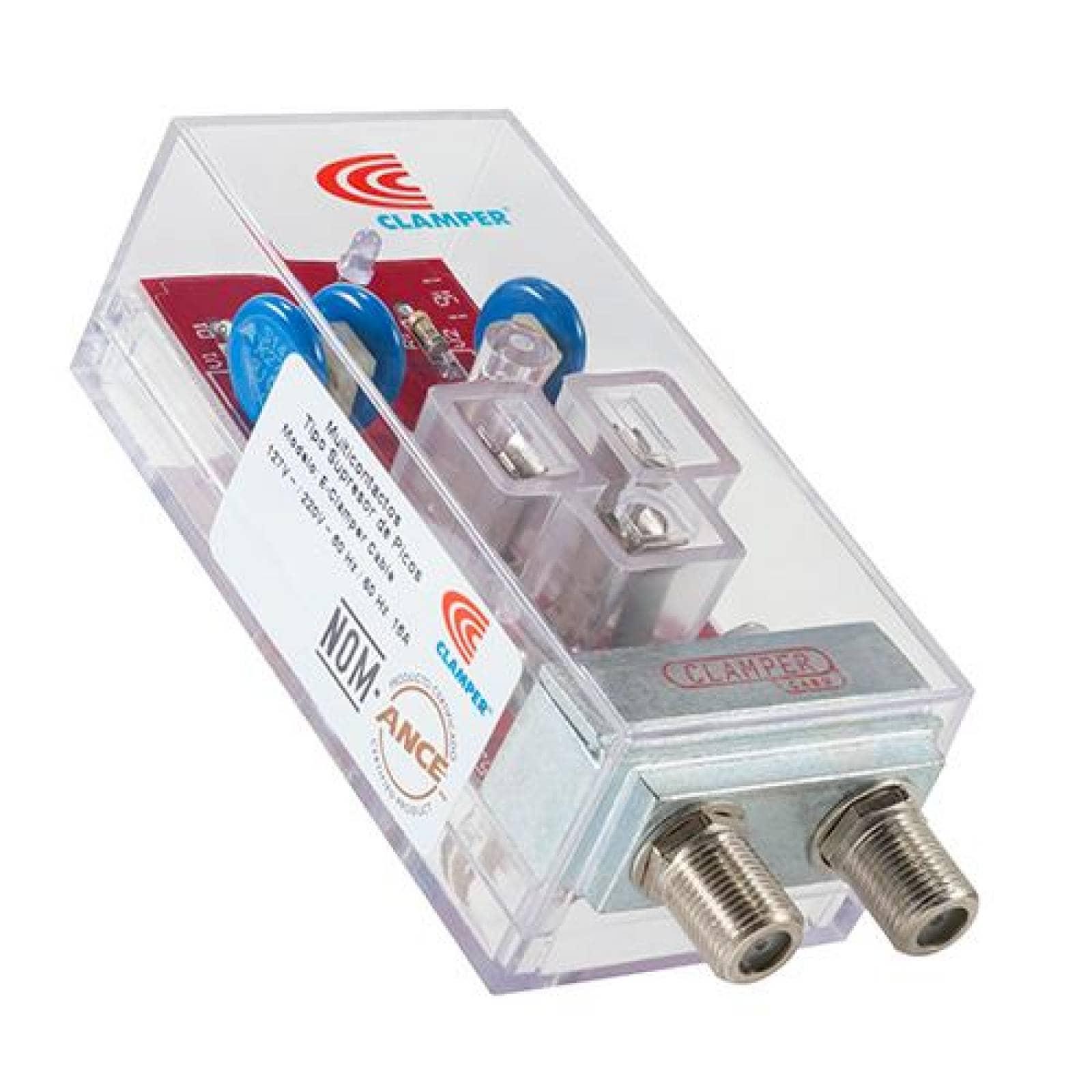Protector equipos electrónicos con entrada cable coaxial