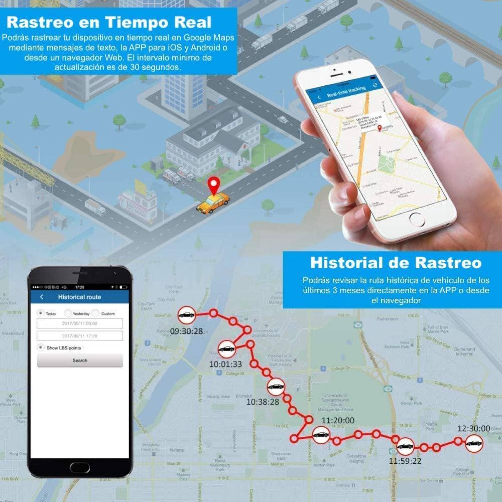BINDEN Rastreador GPS TK913 con Imán y Micrófono Ideal para Vehículo Moto o Personas Batería por hasta 25 Días