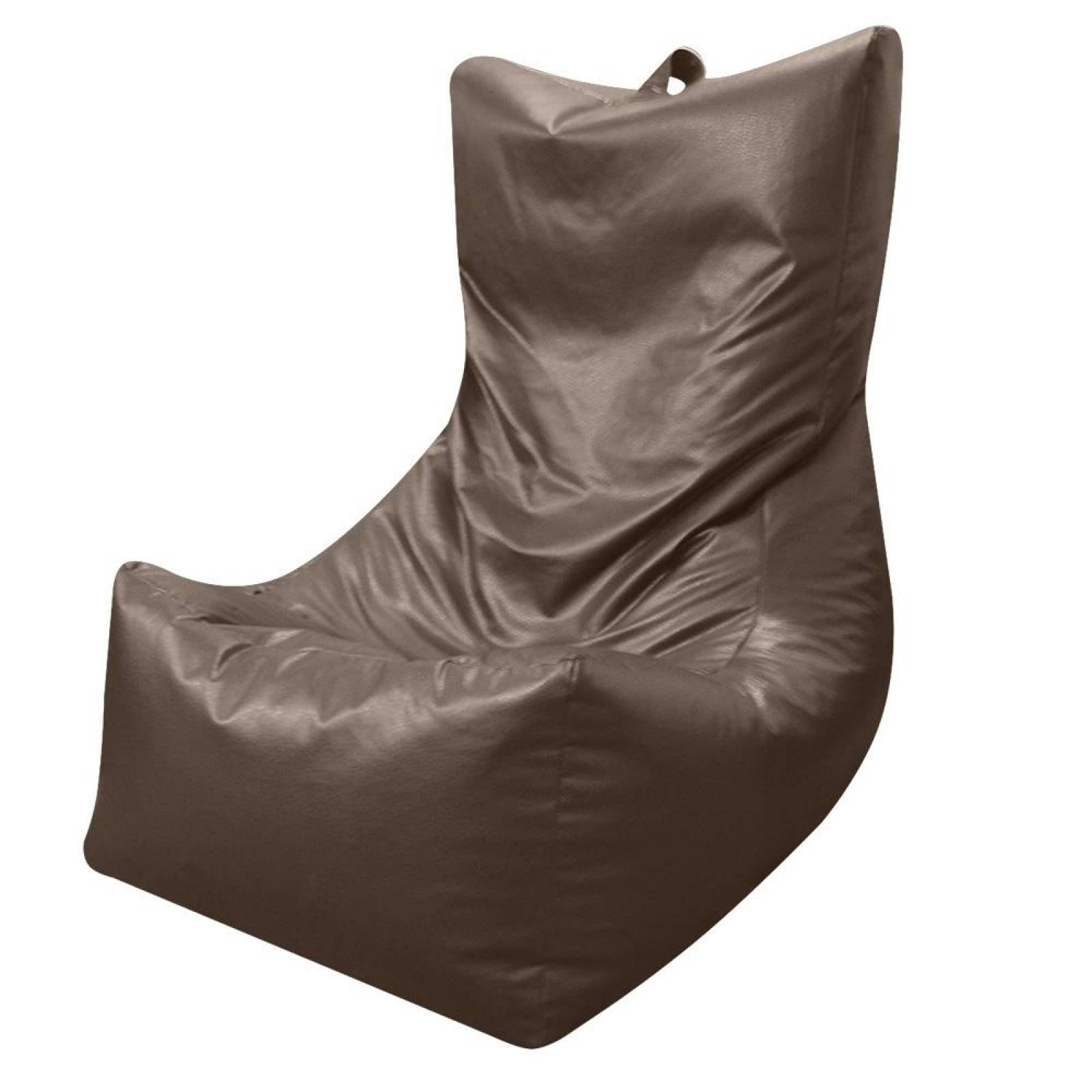 Puff Tipo Sofá Grande Chocolate Lunics
