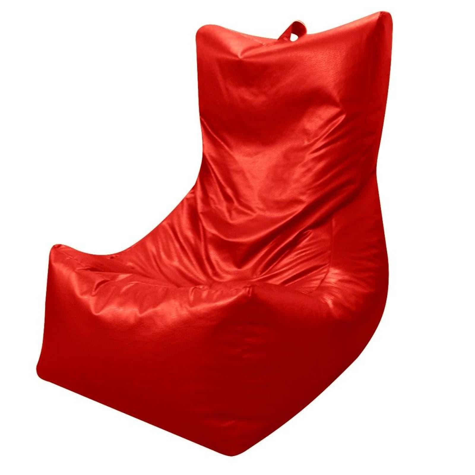 Puff Tipo Sofá Grande Rojo Lunics